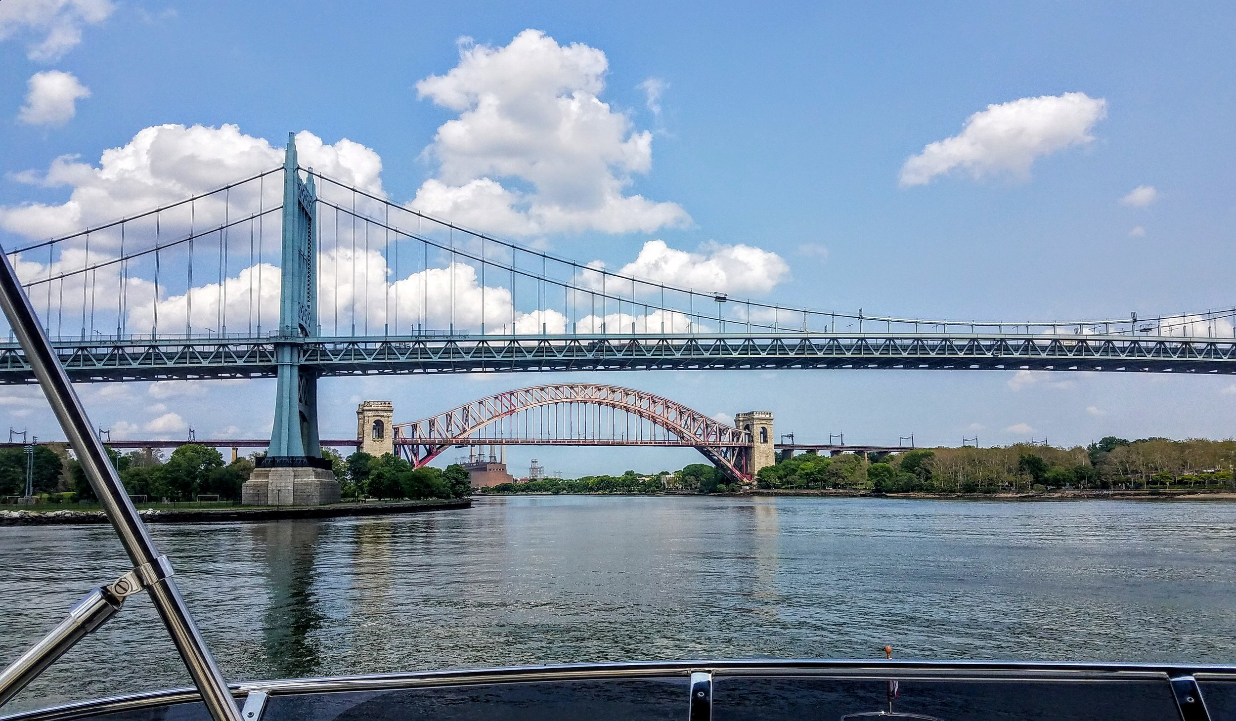 Robert F. Kennedy Bridge and Hell Gate Bridge