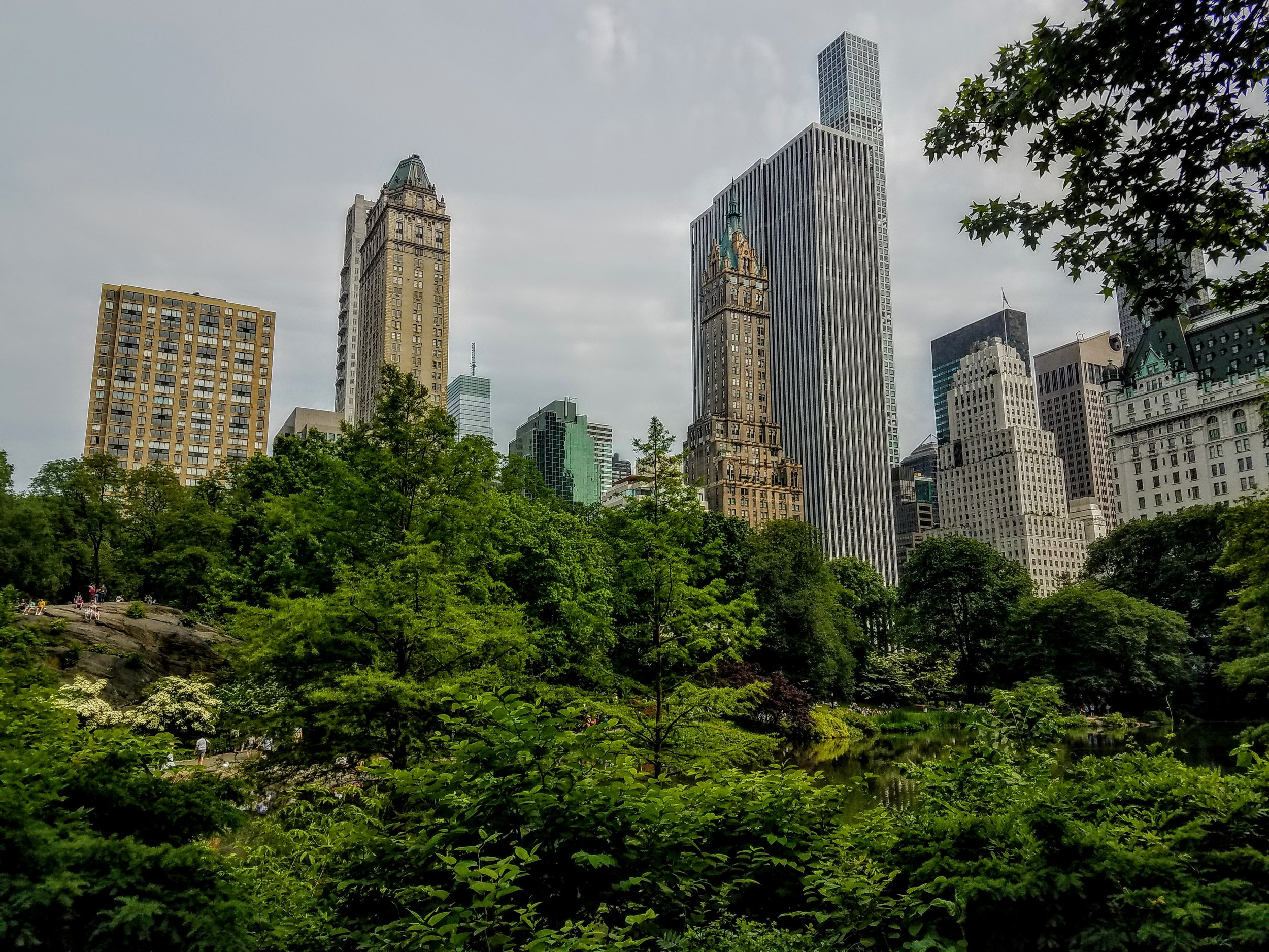 Central Park was so crowded but so beautiful.