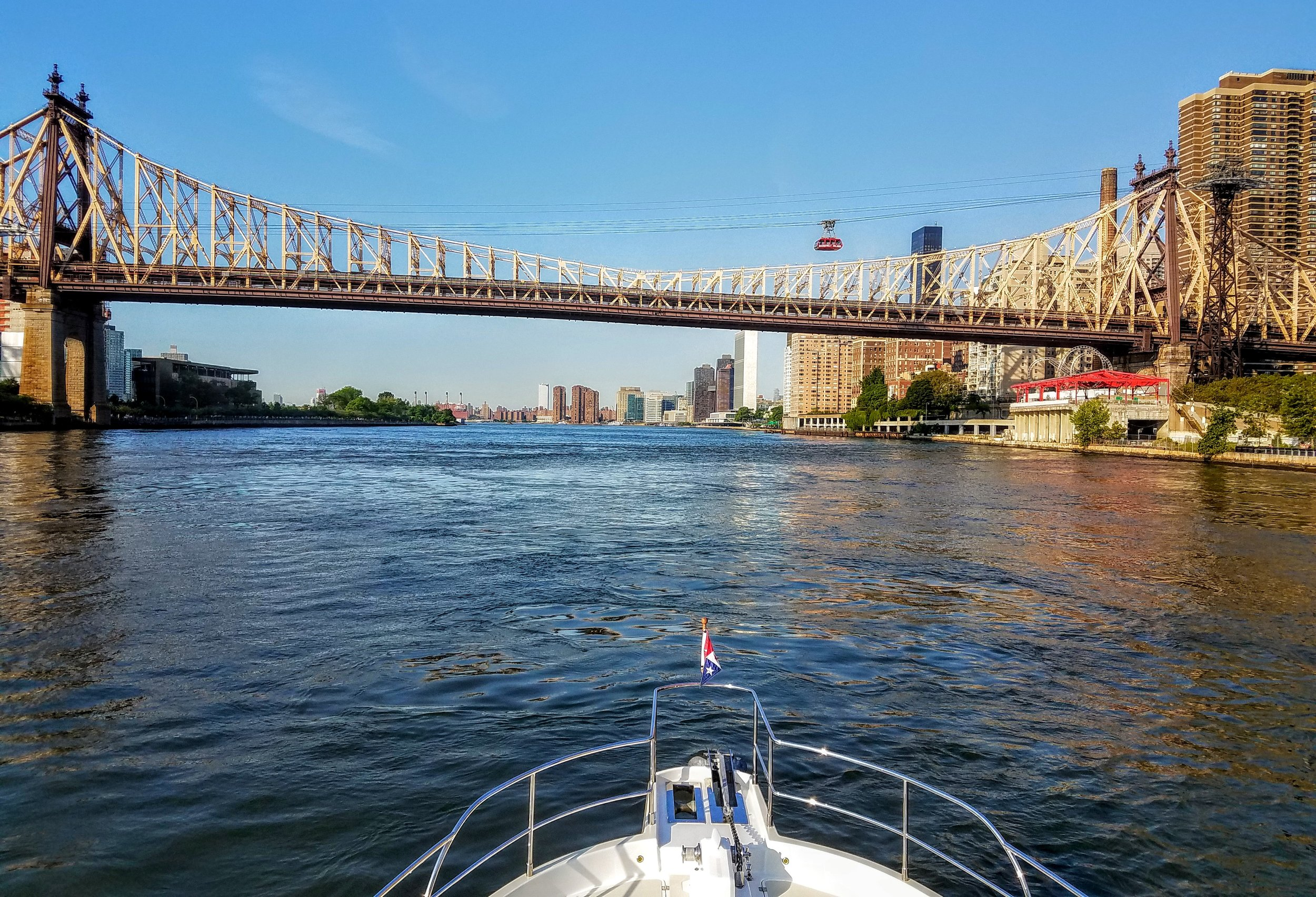The East River and the tram to Roosevelt Island