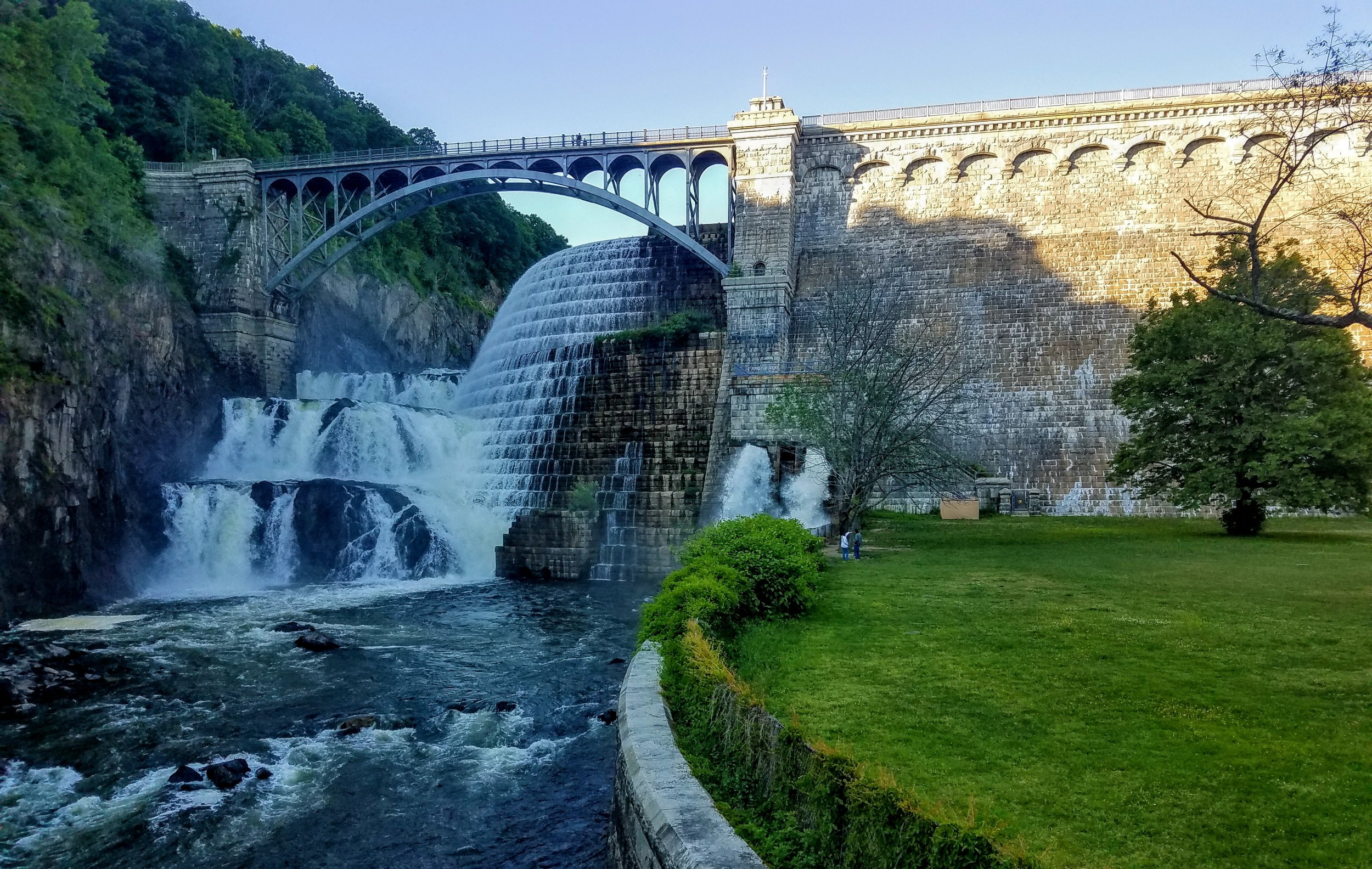 The Cornell (New Croton) Dam/Aqueduct, 81 nautical miles up the Hudson ,provides water for NYC. An engineering marvel built in 1892