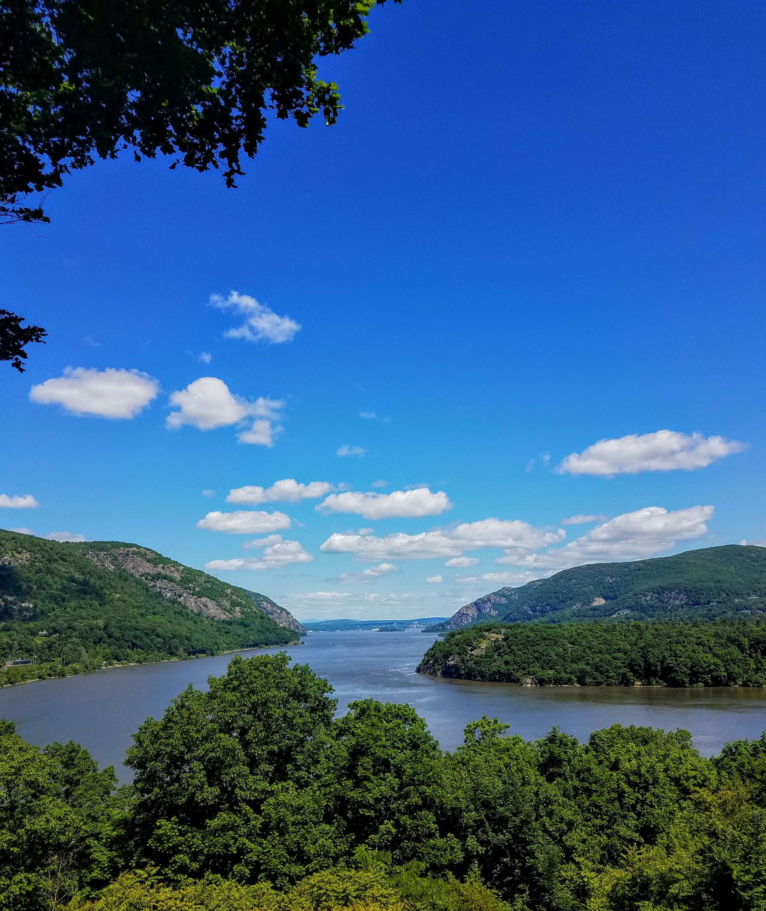 The view of the Hudson River from the grounds at West Point