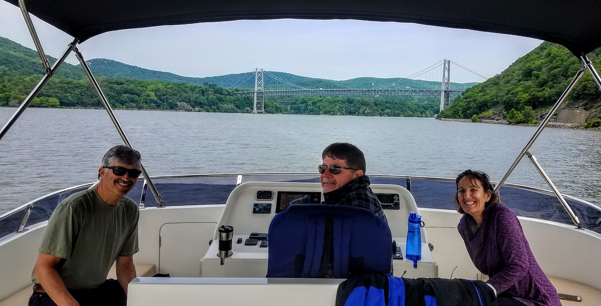 Heading north on the Hudson