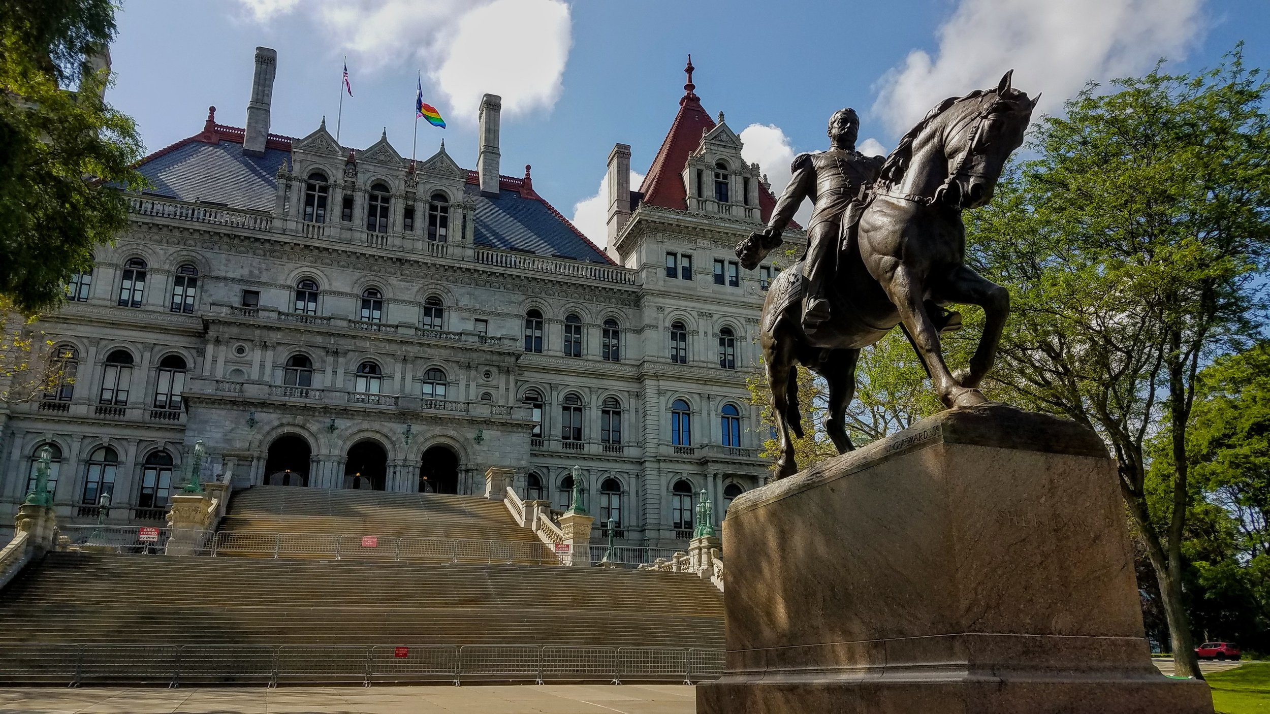 Albany is the state capital of New York. This is the State Capitol Building built in 1868
