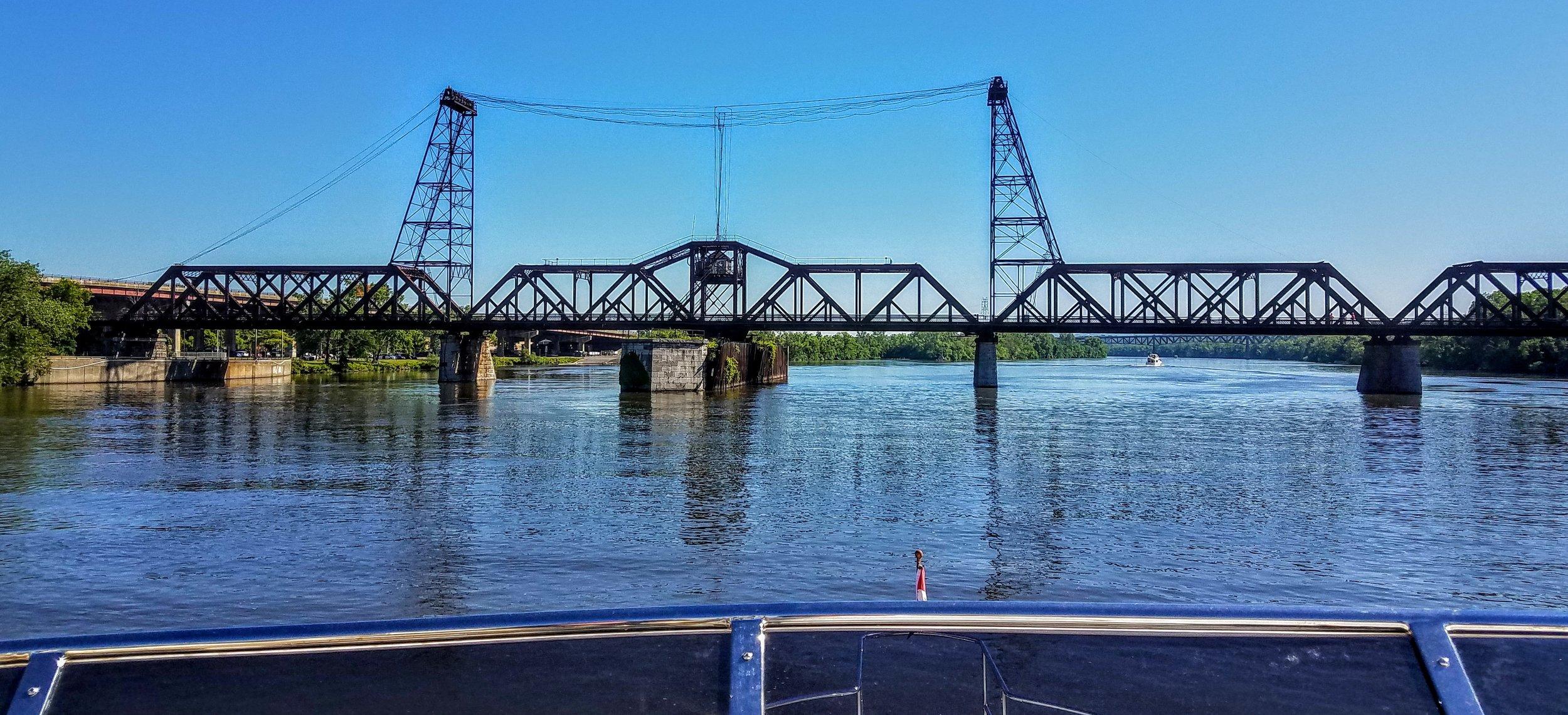 The Railroad Bridge exiting Albany, NY toward Waterford, NY