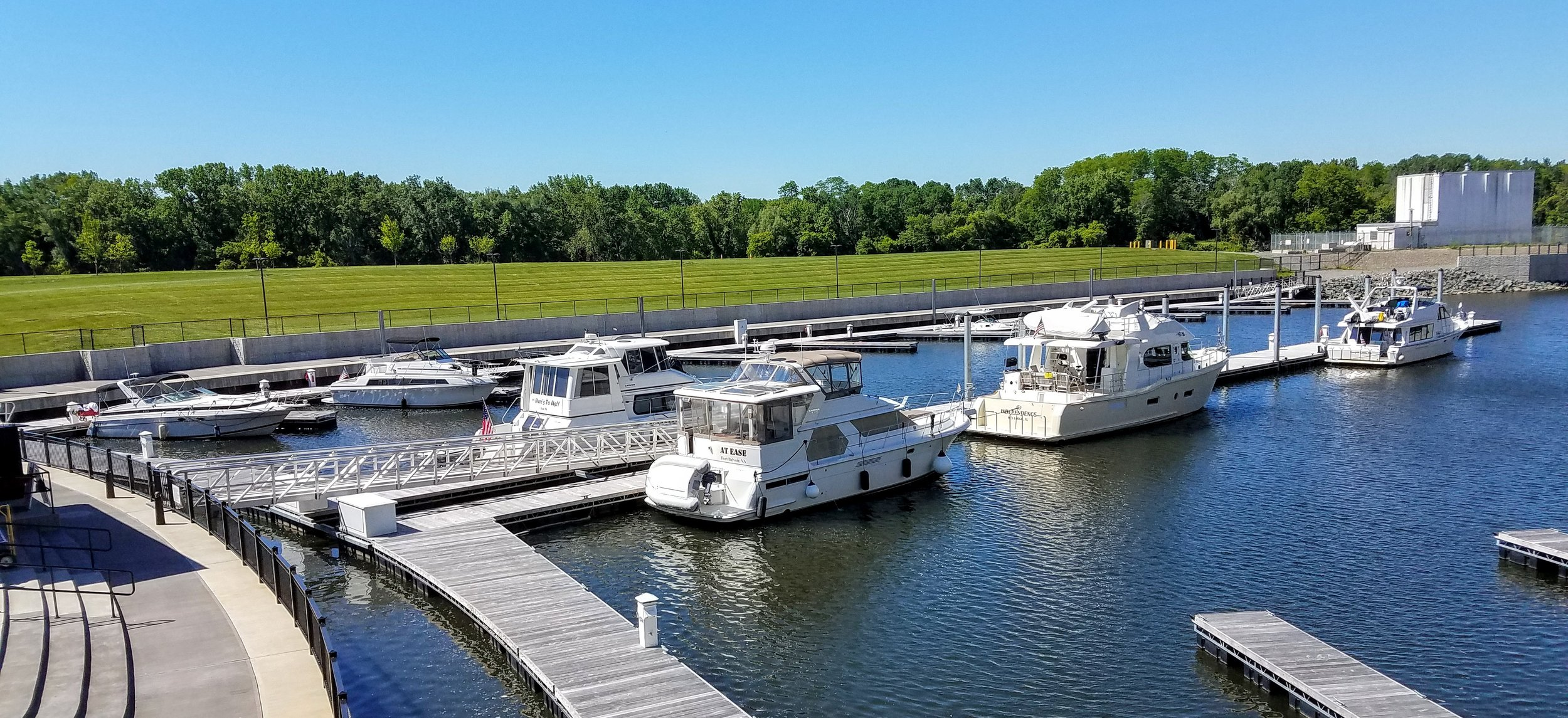Our overnight spot at the Mohawk Harbor Marina in Schenectady, NY