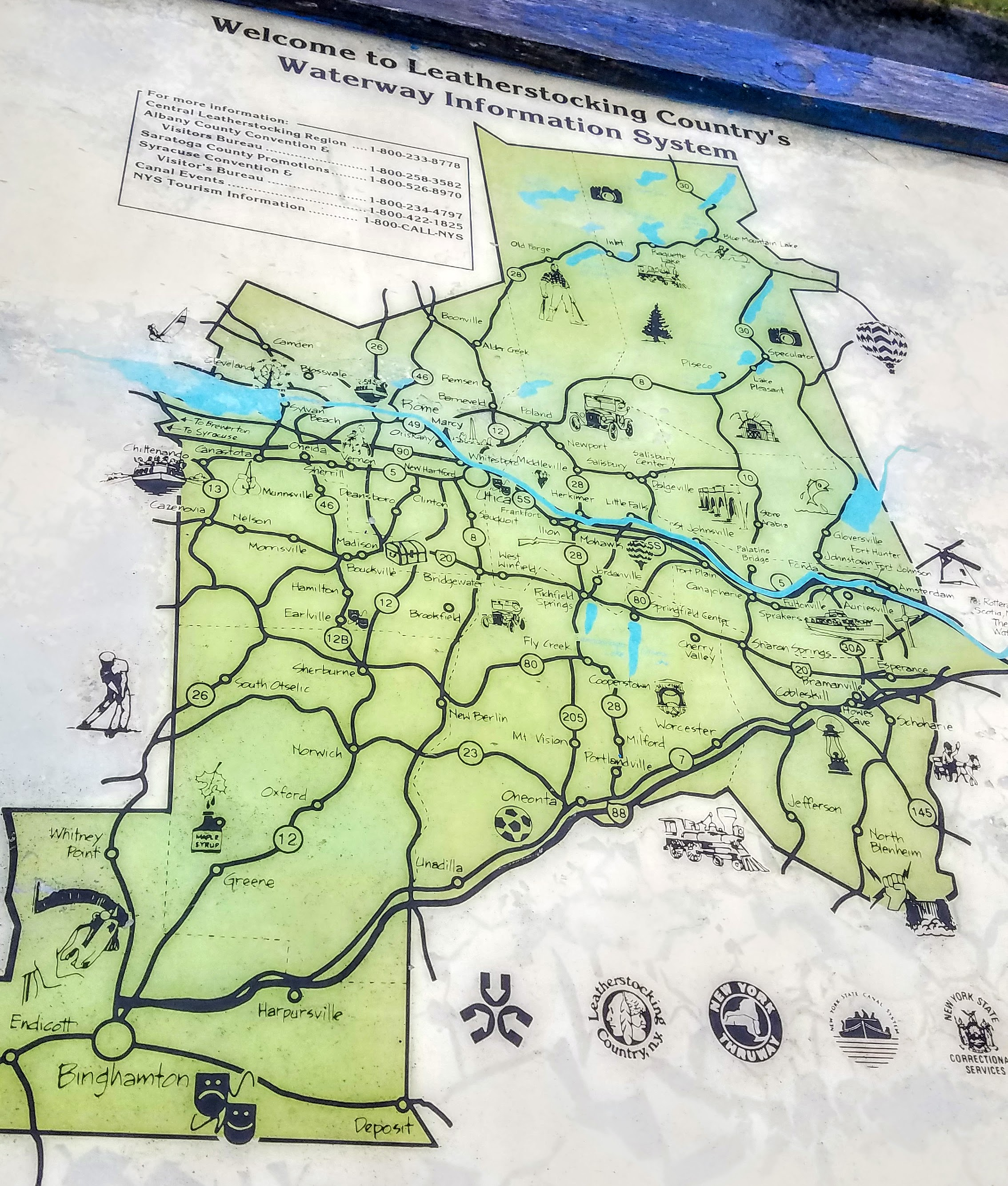 There is a different map of the Erie Canal at each little town you stop at