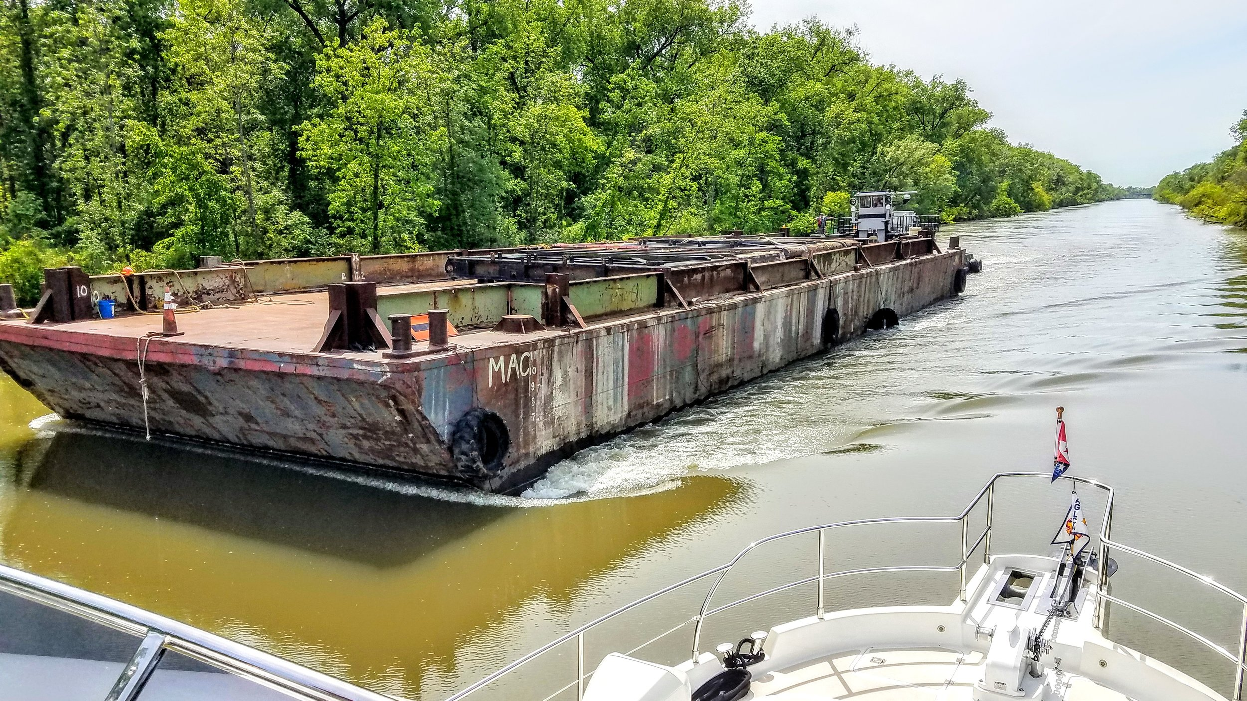 The Erie Canal was very busy today…barge one