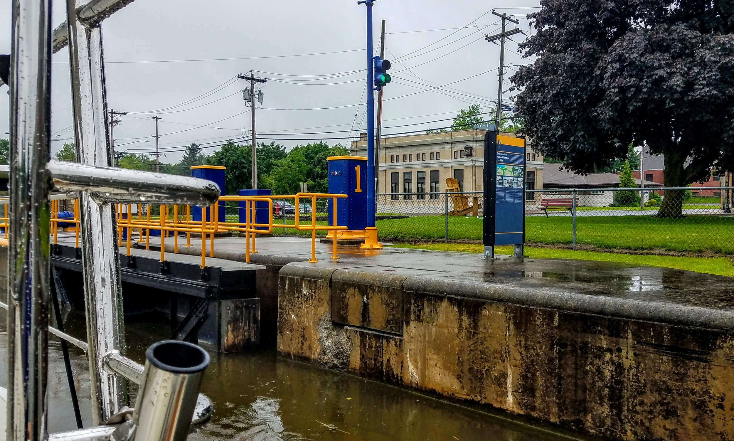 The first lock (lock 1) on the Oswego Canal