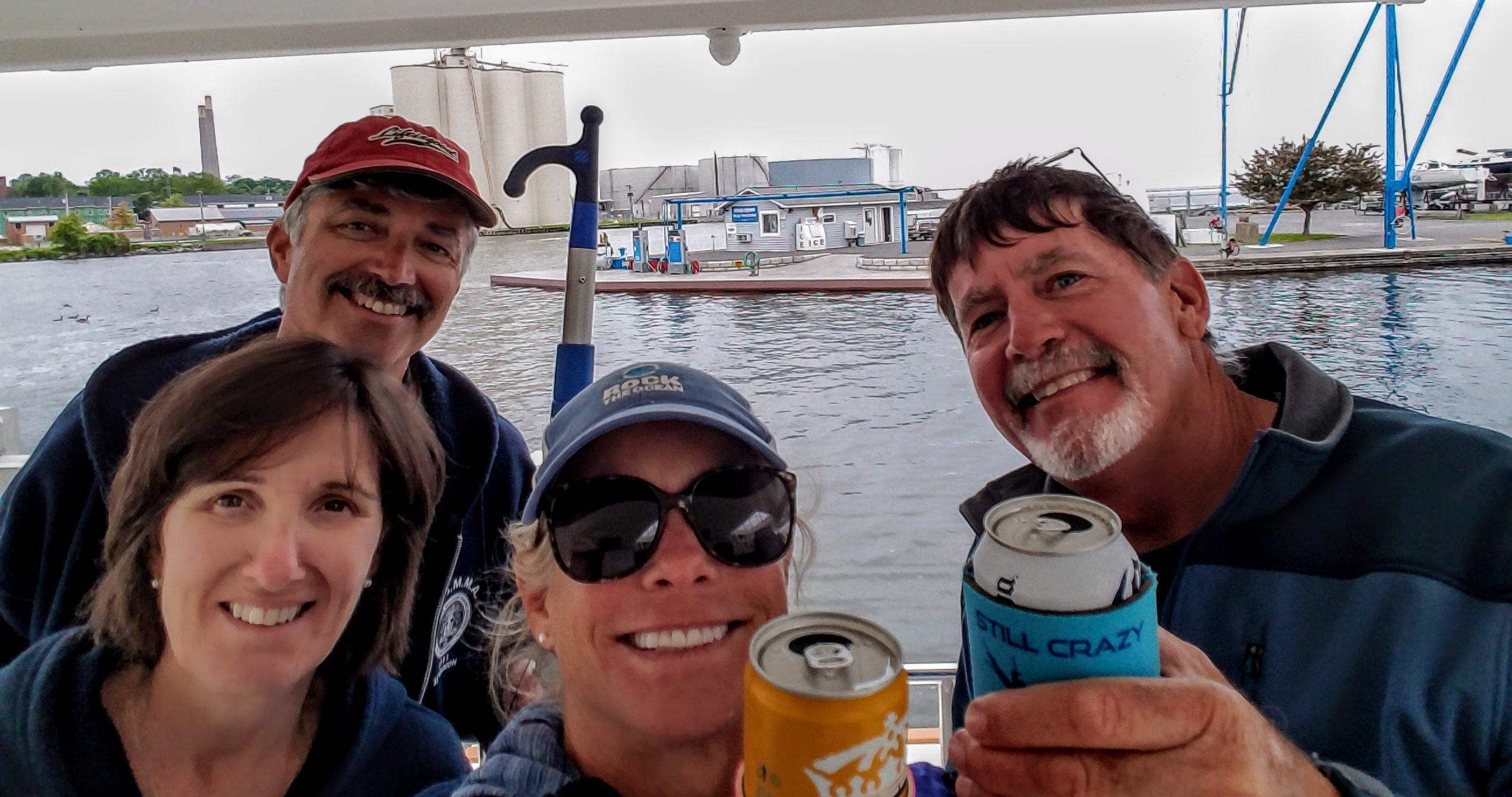 At the Oswego Marina we celebrate our accomplishment