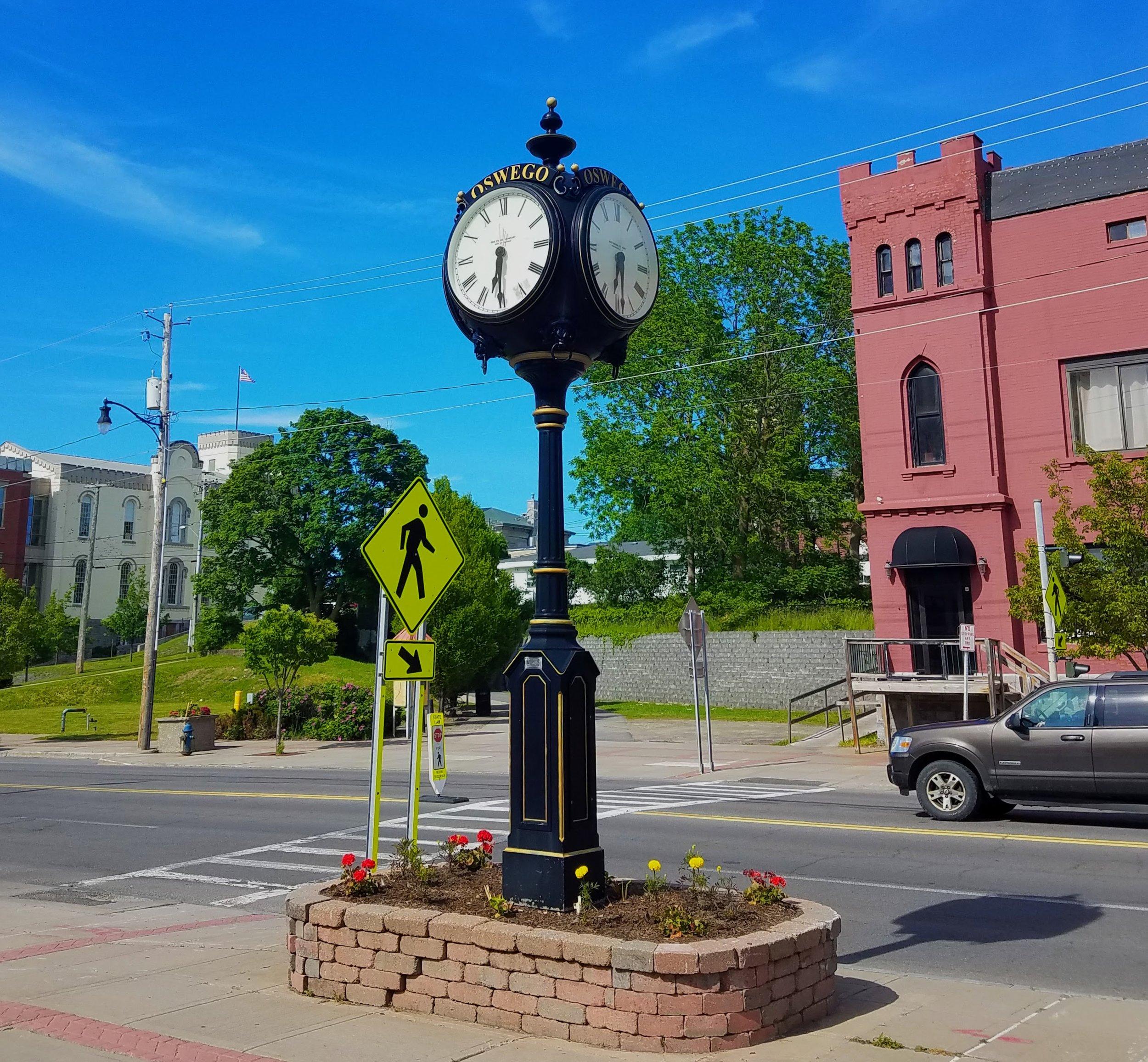 The Oswego City clock
