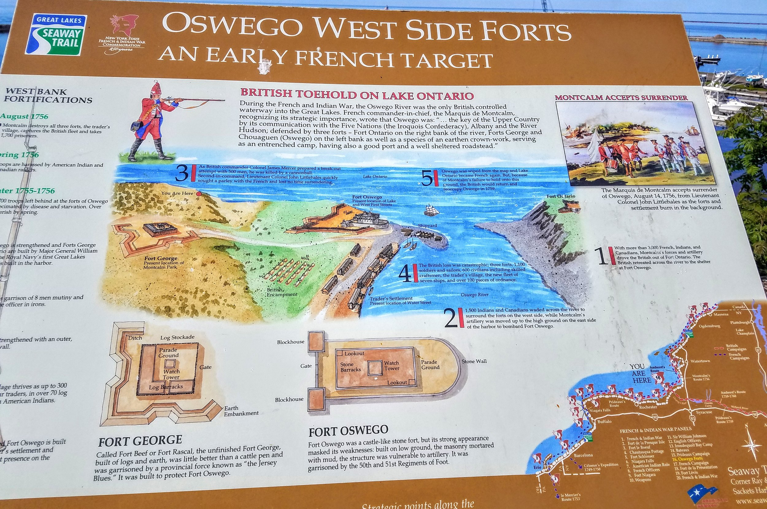 A little history on Fort George and the strategic importance of Oswego, NY