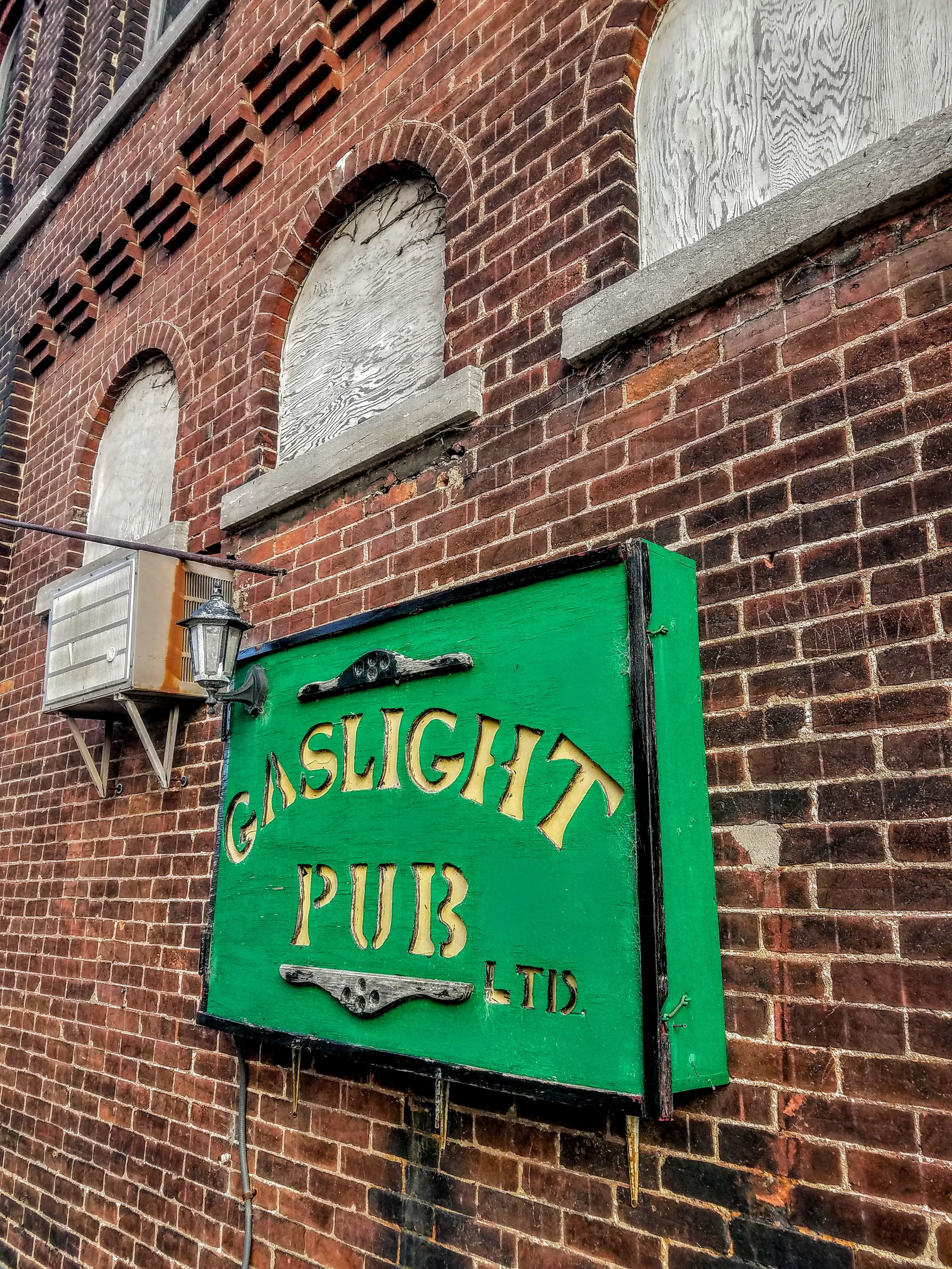 Sad that The Gaslight was closed.  I think this winters high waters got inside