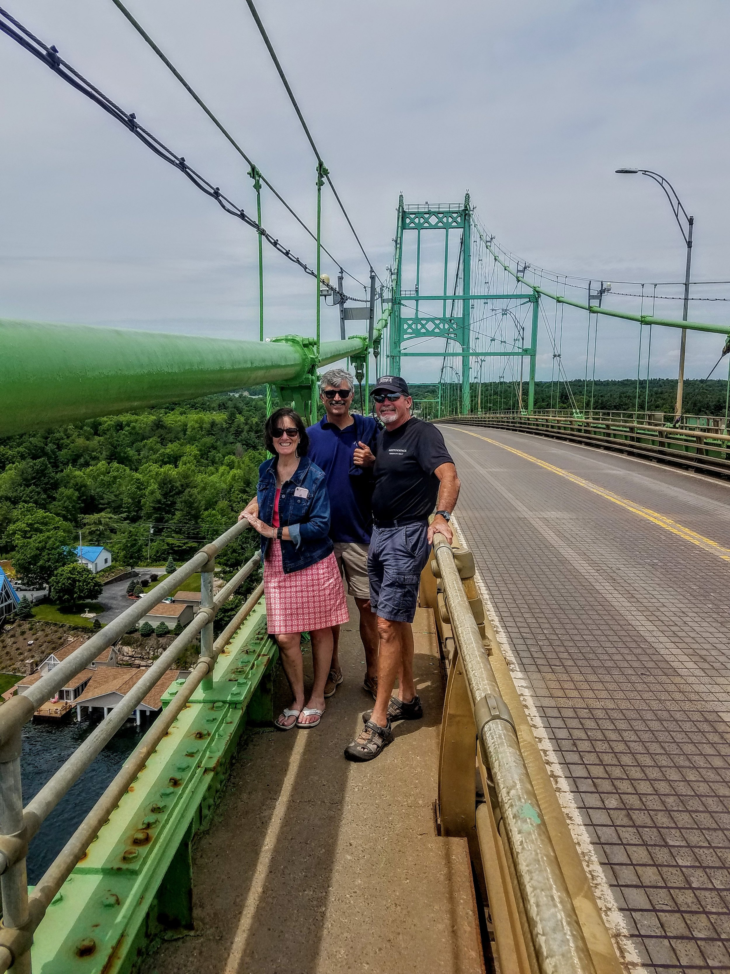 A stroll over the Thousand Islands Bridge
