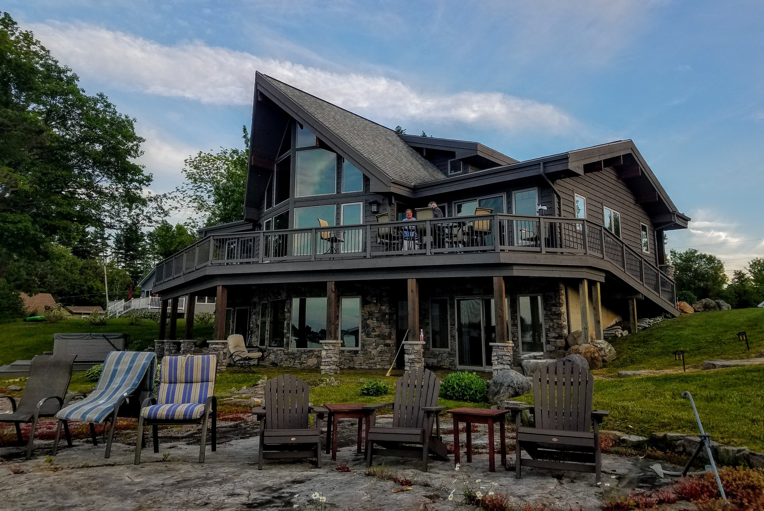 Rob and Sharron Grants gorgeous home along French Creek Bay