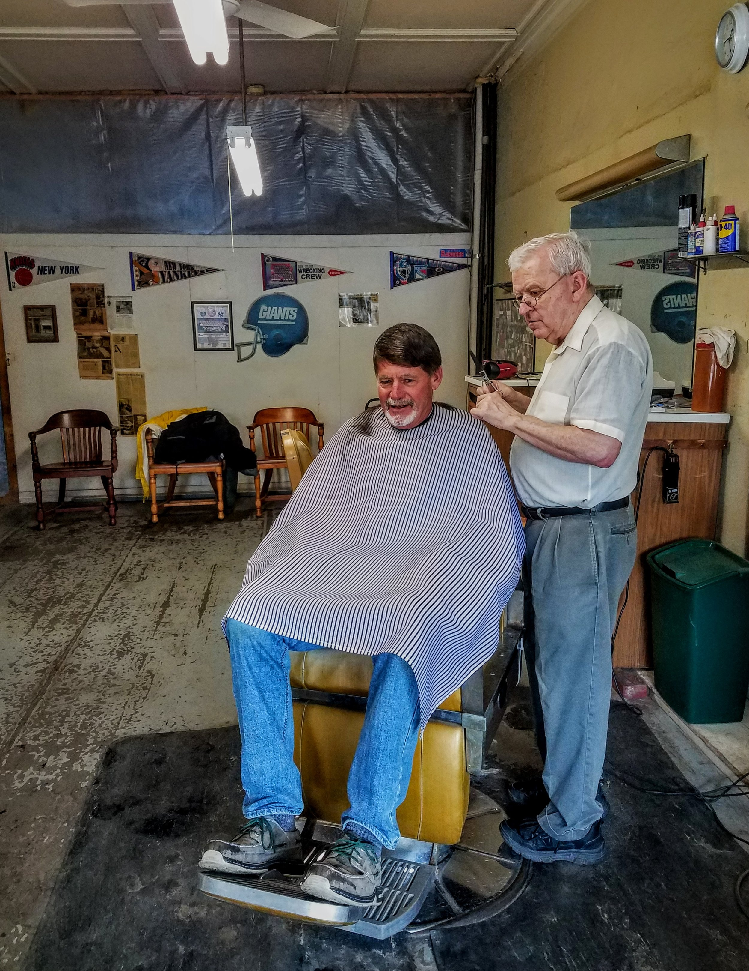 Larry takes a chance with John the barber at this step-back-in-time barber shop