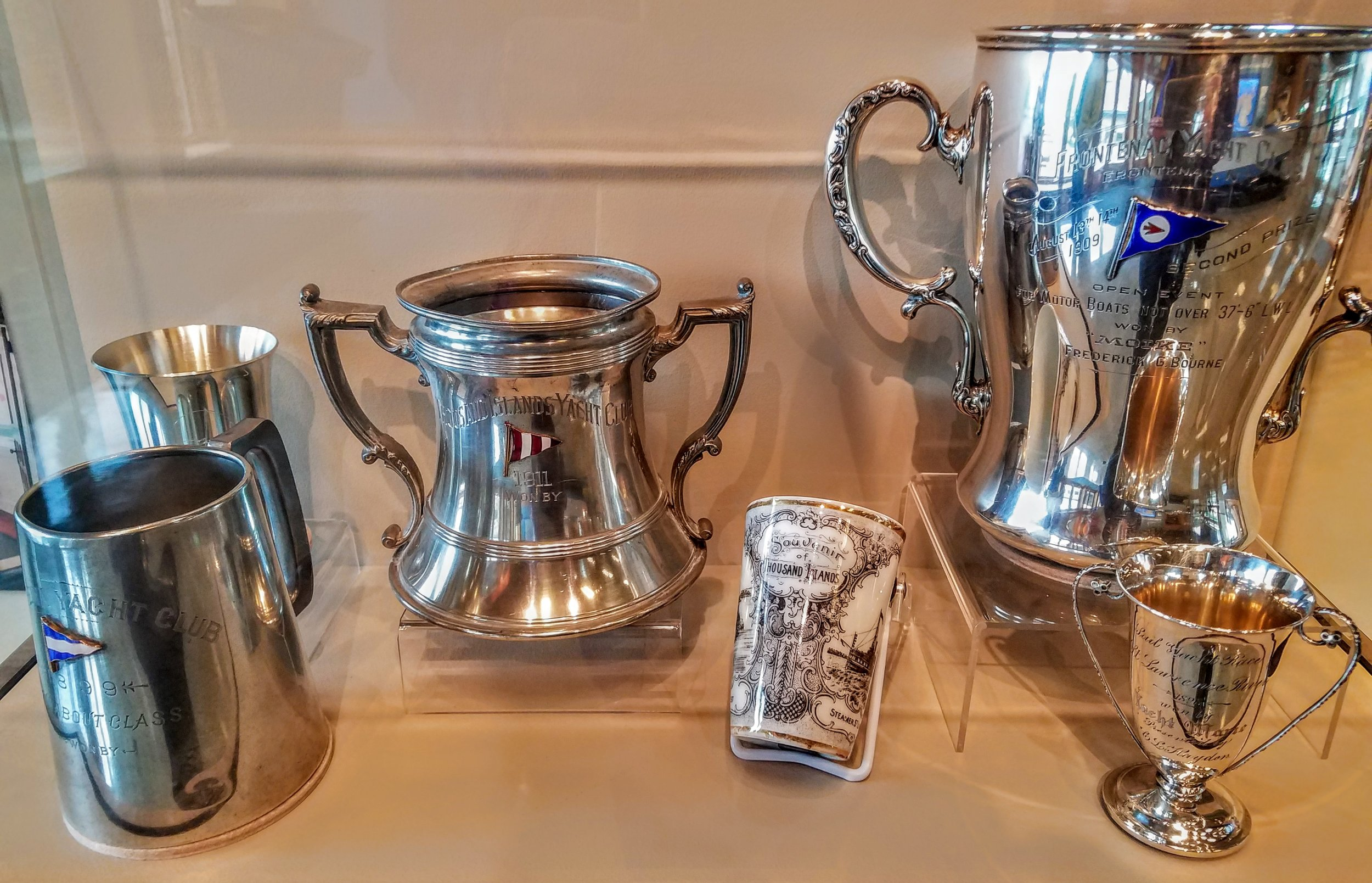 …vintage racing trophies and souvenirs…