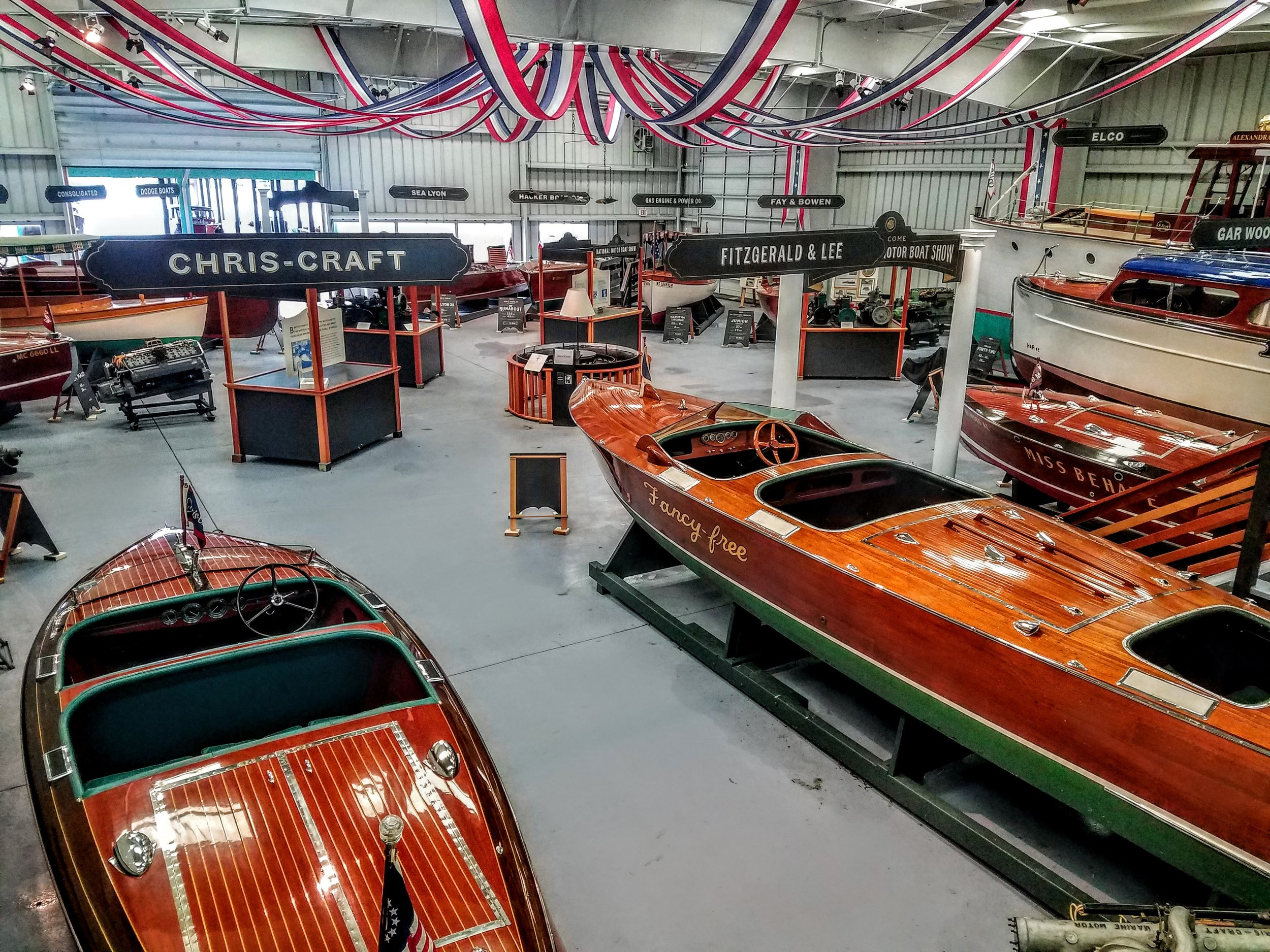 An amazing collection of vintage wooden boats