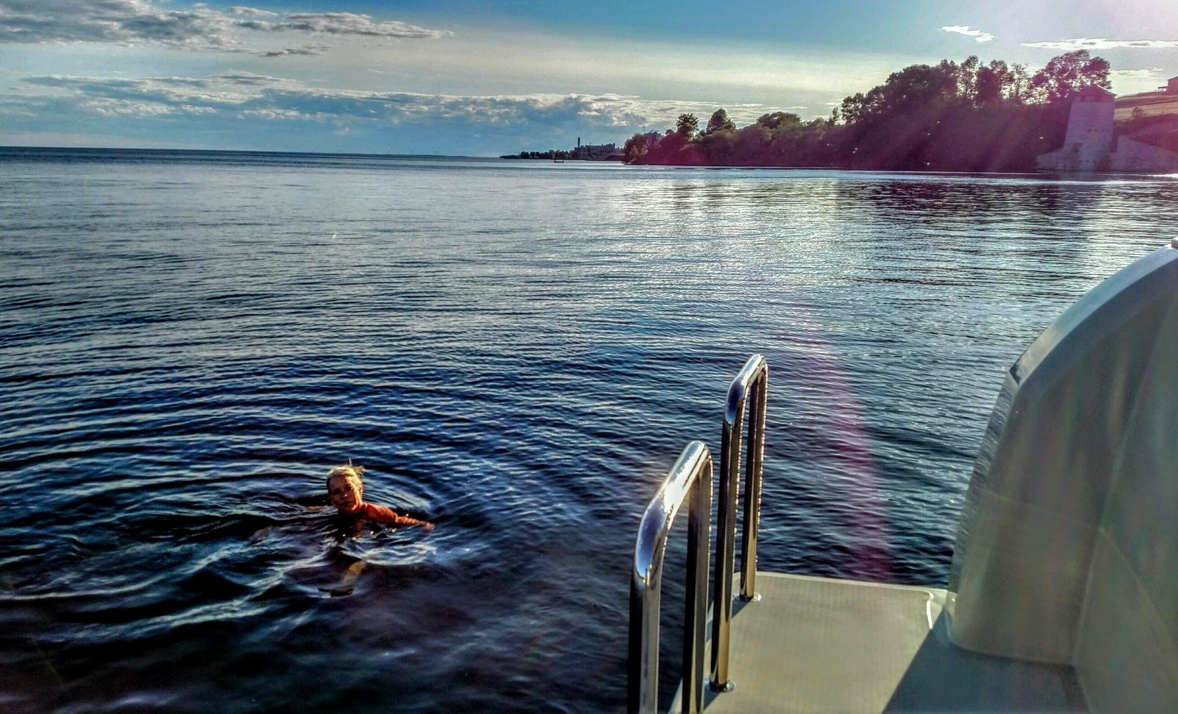 Celebrating Summer Solstice with a swim. Photo Larry McCullough