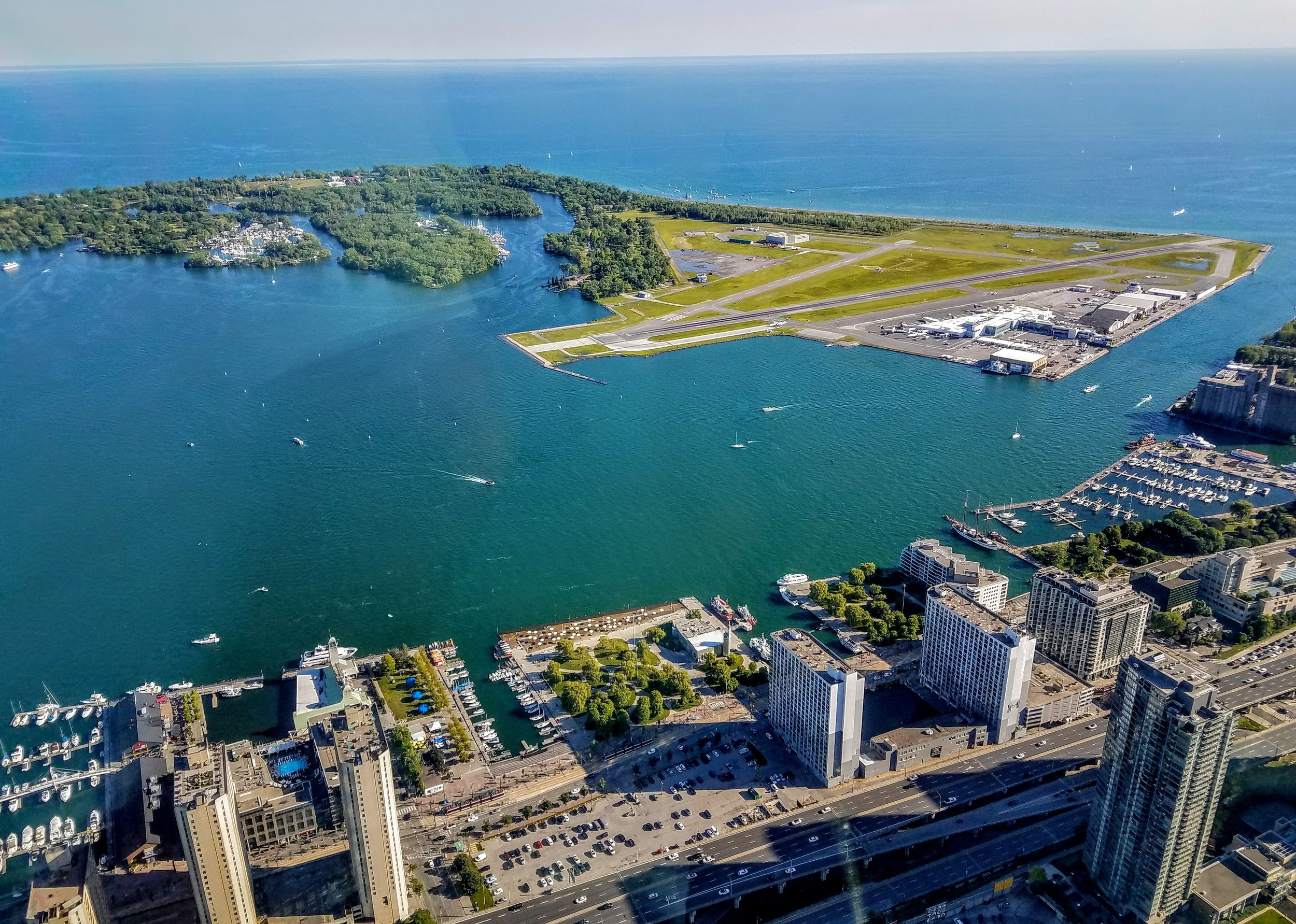 The local airport and the channel we will use to exit Toronto