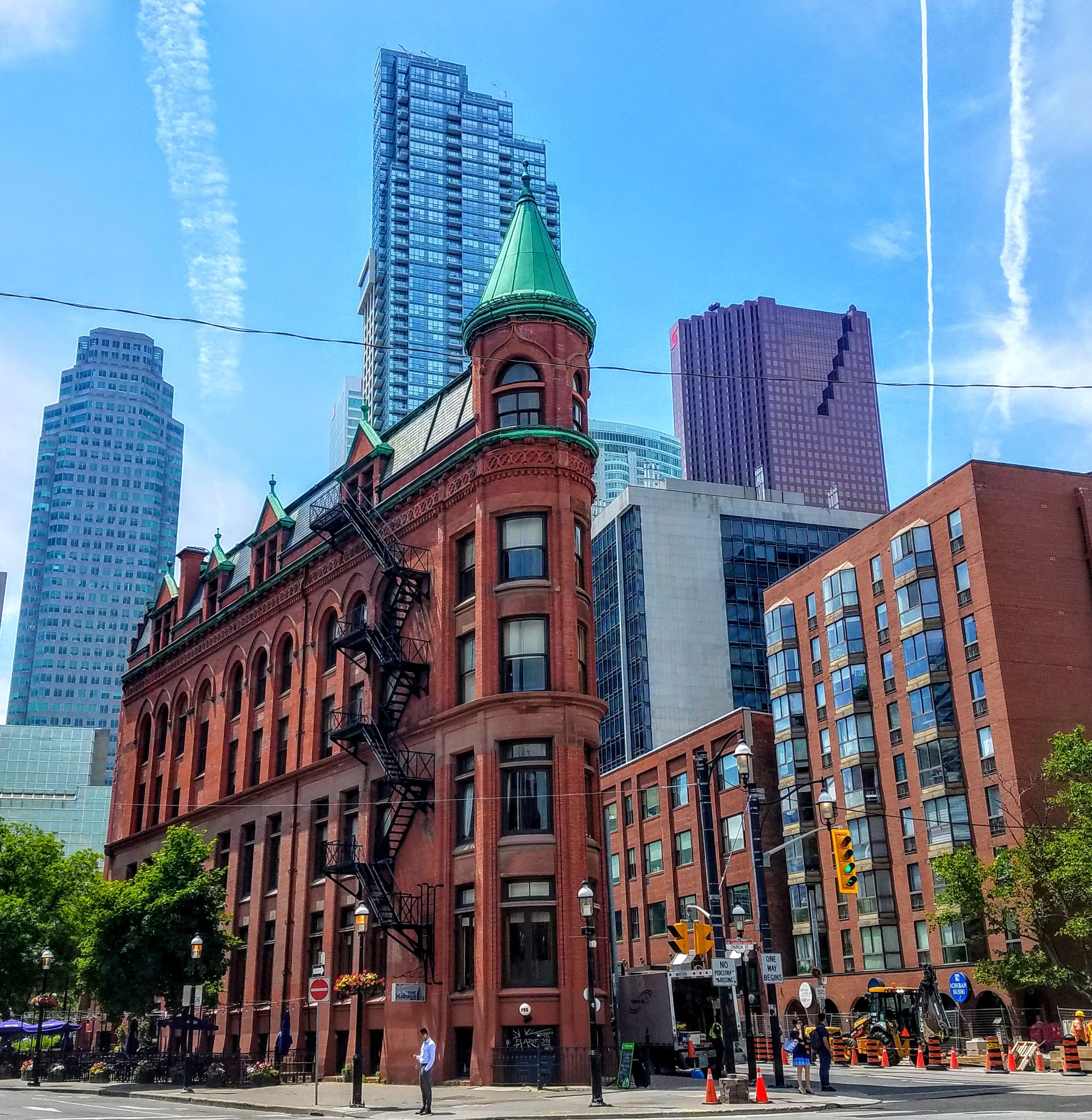 The front of the Gooderham Flatiron Building built back in 1892