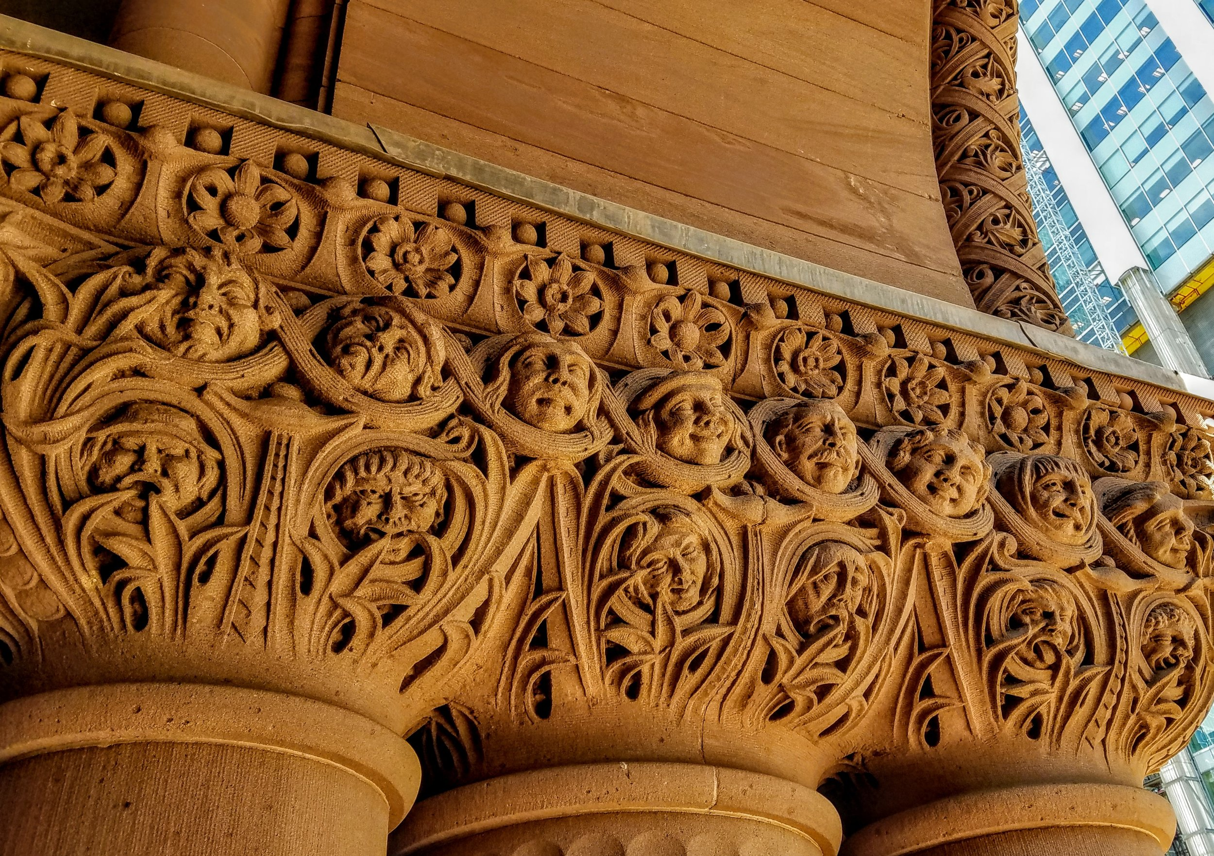 These sandstone carvings look so similar to the carvings in the Albany NY City Hall