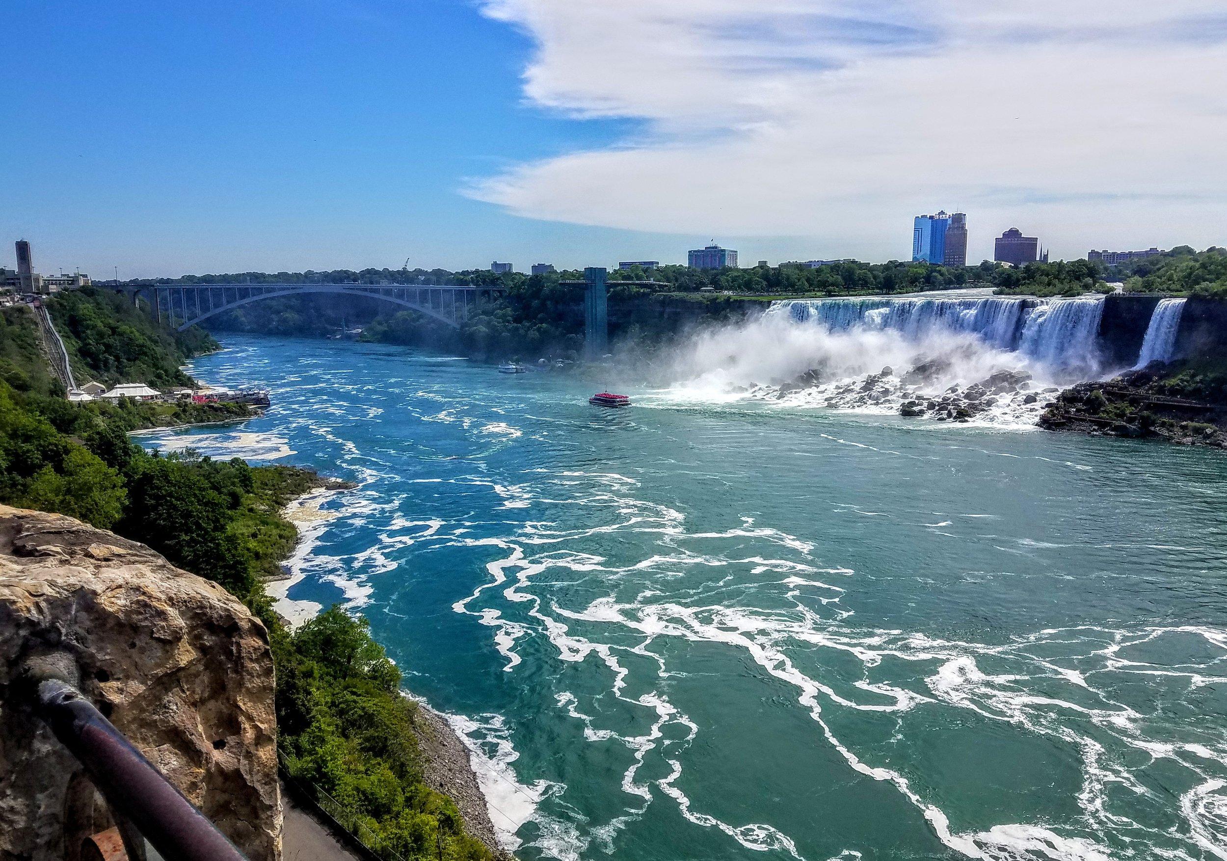 The U.S. side of Niagara Falls…American Falls