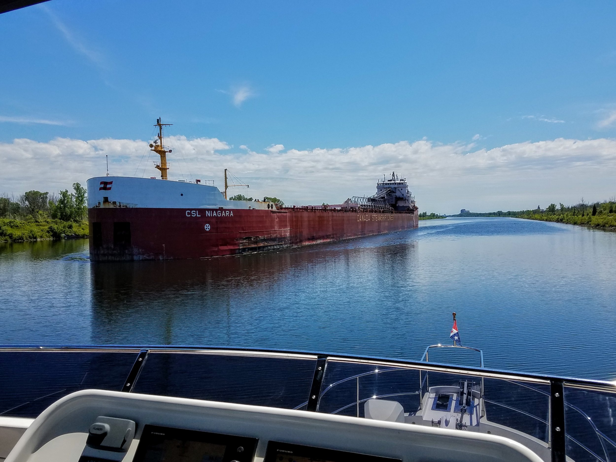 This is the normal size of traffic on the Welland Canal