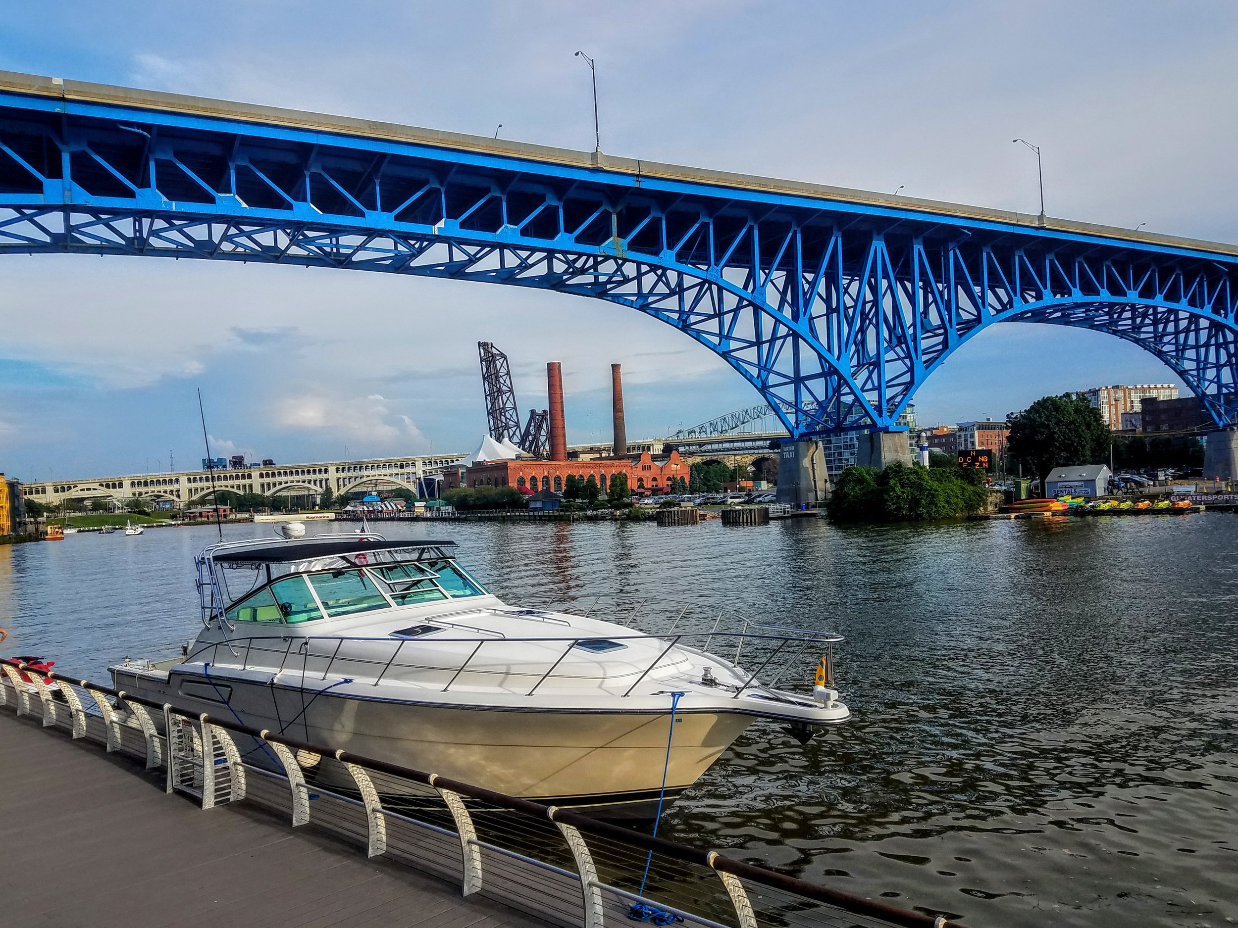 The Flats on the Cuyahoga River…a great place to go for jog and later to grab a cold one