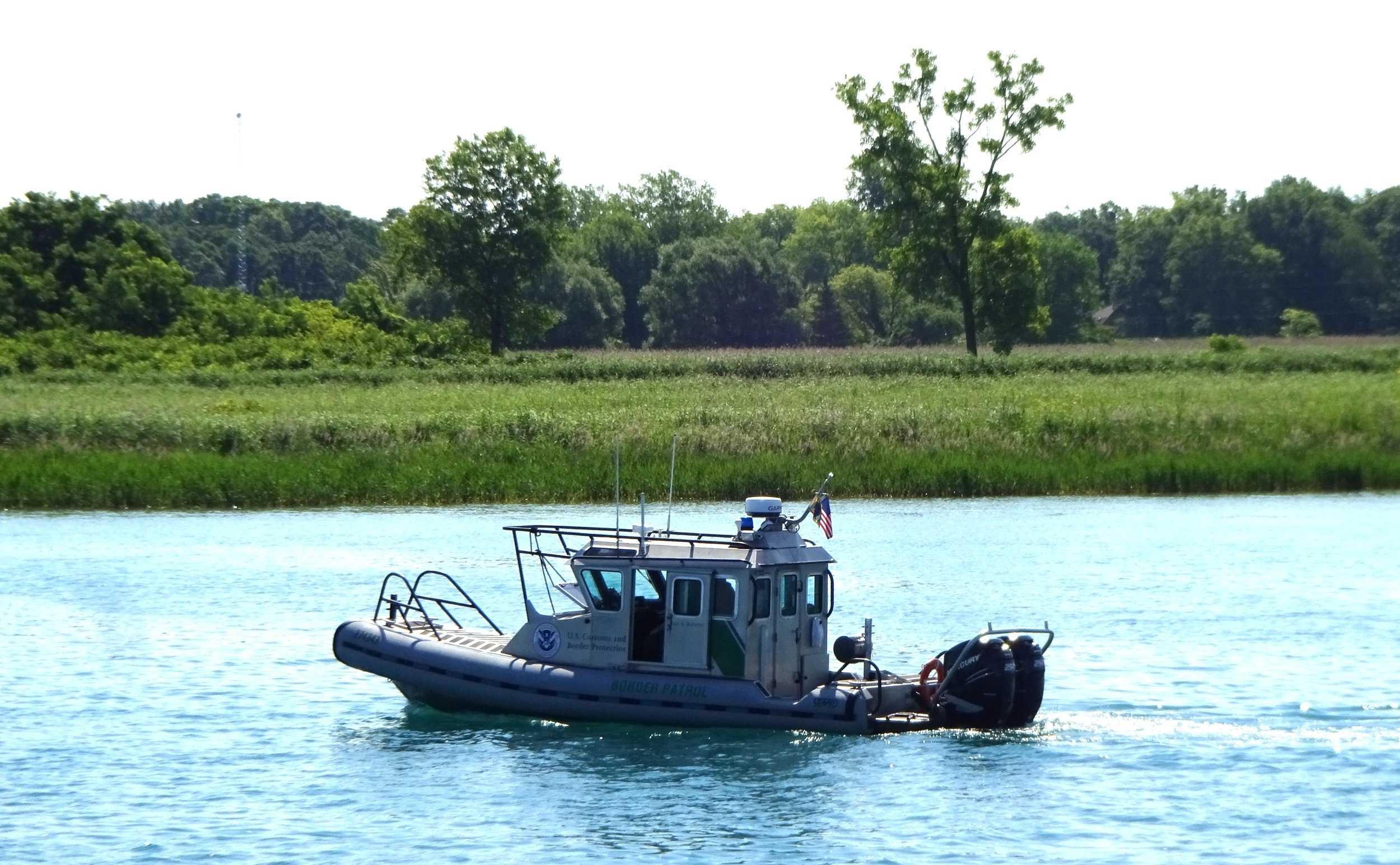 U.S. Border Patrol along the St. Clair River. Photo by Larry McCullough