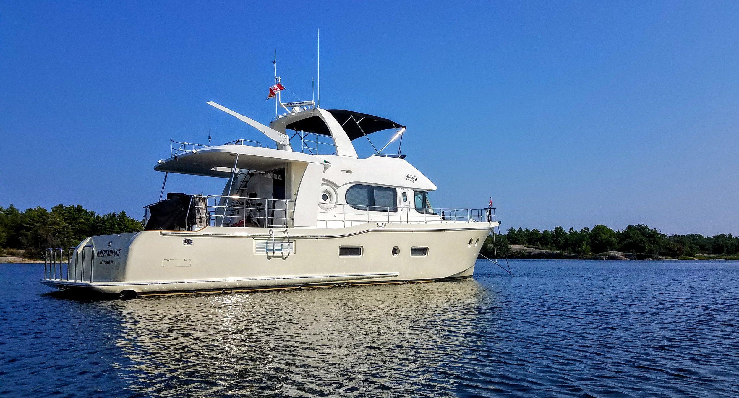 Independence anchored at Long Bay