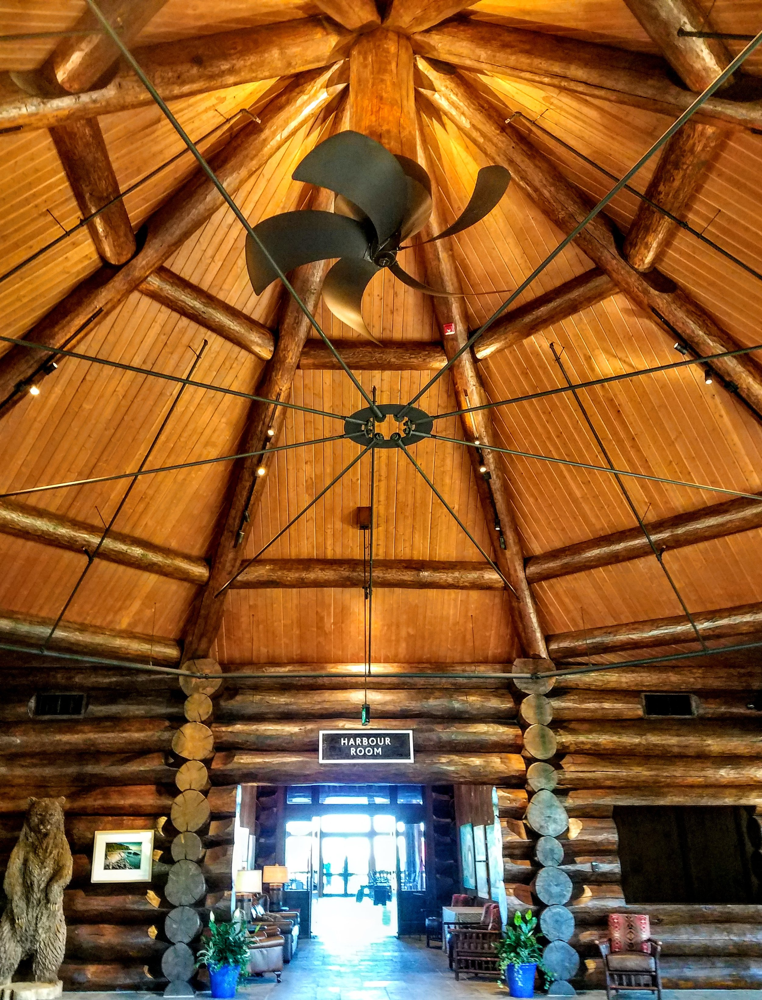 The $18 million event center lodge at Sportsman's - love the 'prop' fan