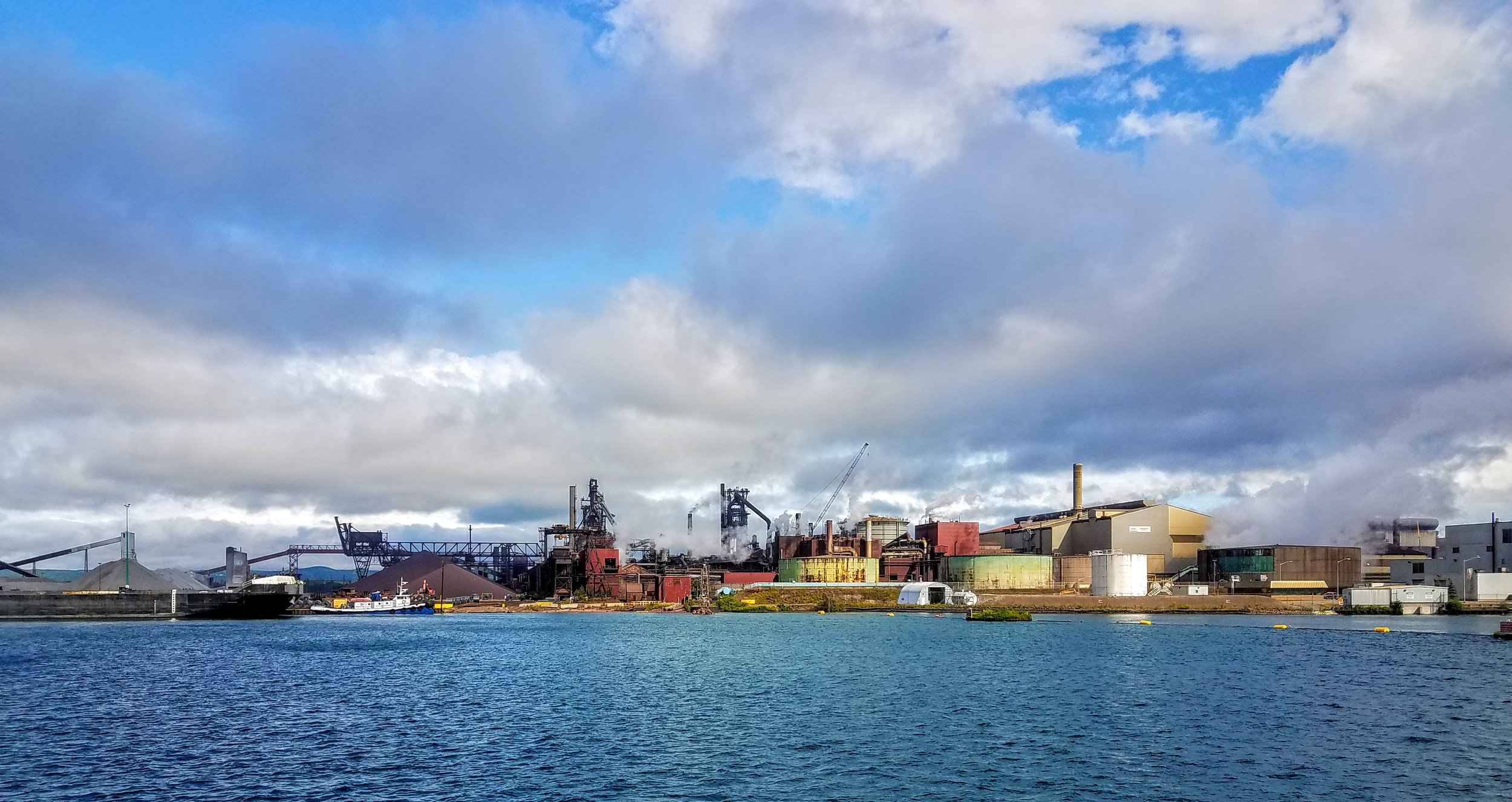 The largest steel plant in Canada sits near Sault Ste. Marie, ON