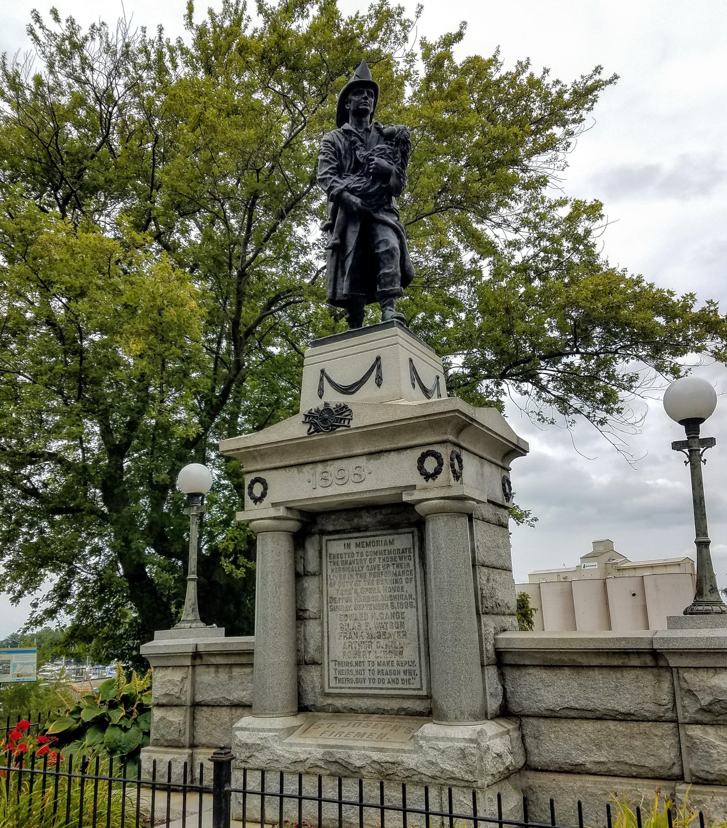 A fireman's memorial from 1898