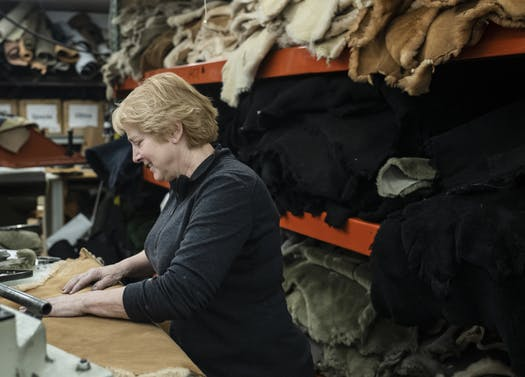 """Sven Clogs owner Marie Rivers says her employees make craftsman wages, but a lack of affordable housing near Chisago City is """"a nightmare"""" for many. PHOTO BY RICHARD TSONG-TAATARII • STAR TRIBUNE"""