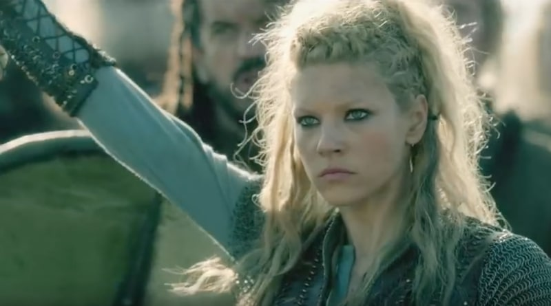 Viking warrior Lagertha, portrayed by Katherine Winnick, in History Channel's Vikings