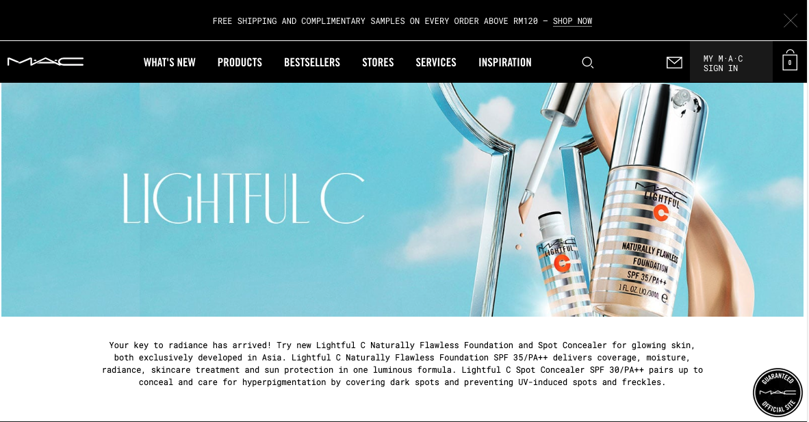 MAC website, Malaysia