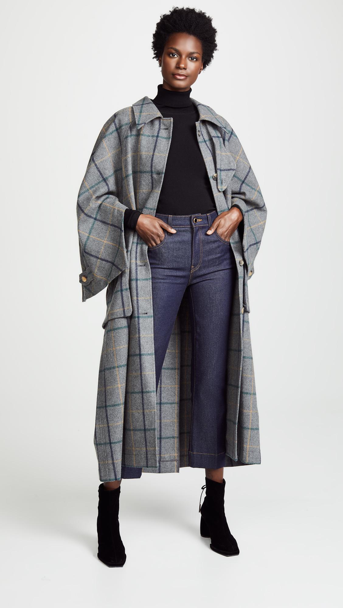 a.w.a.k.e. open raglan sleeve pocket coat