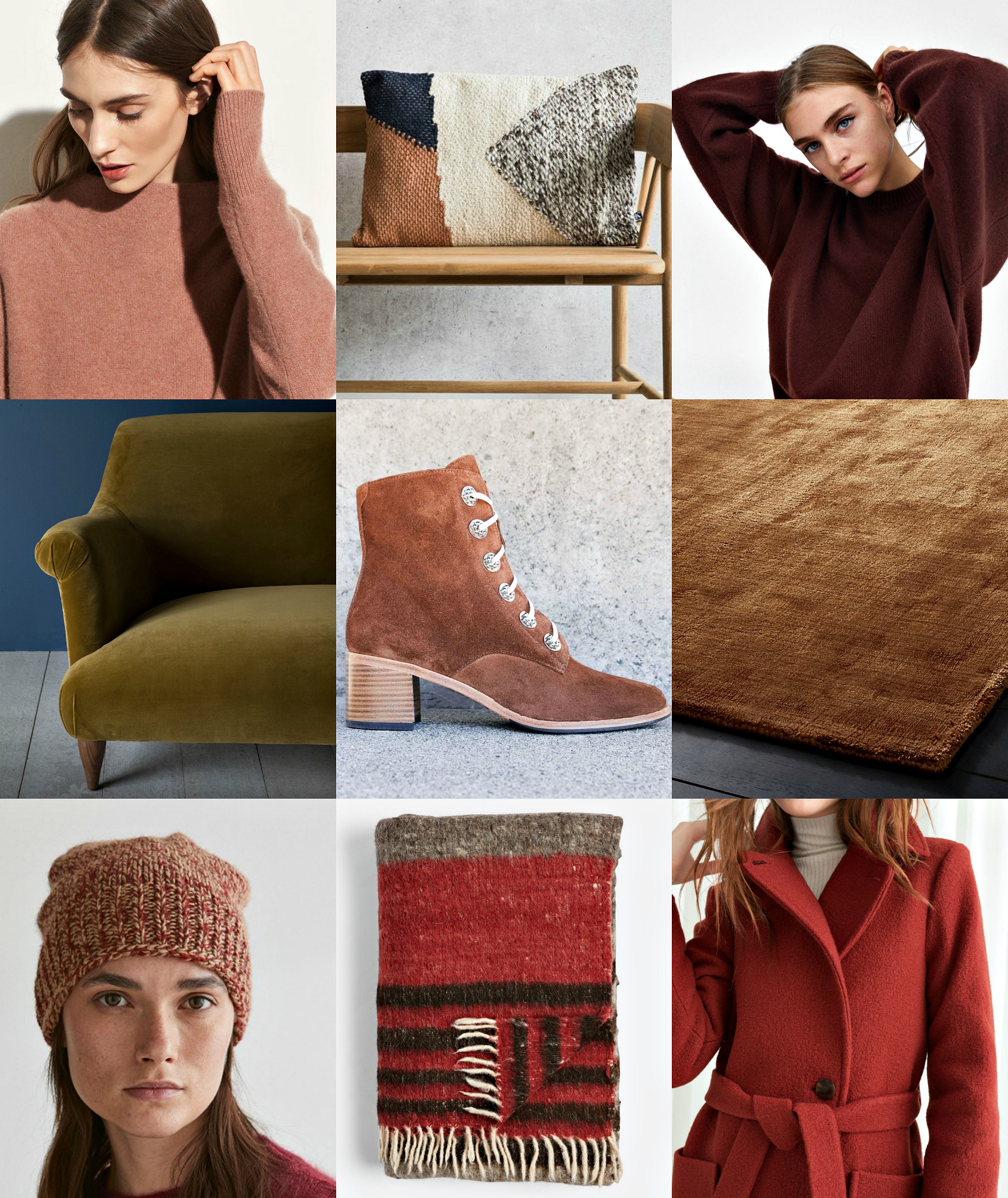 vince funnel neck cashmere sweater ,  rose & gray knotted autumn cushion ,  zara wool sweater ,  pinch goddard sofa ,  freda salvador ace lace up boot ,  cb2 posh camel rug ,  toast camel wool marl hat ,  rejuvenation napped wool throw ,  & other stories belted wool coat