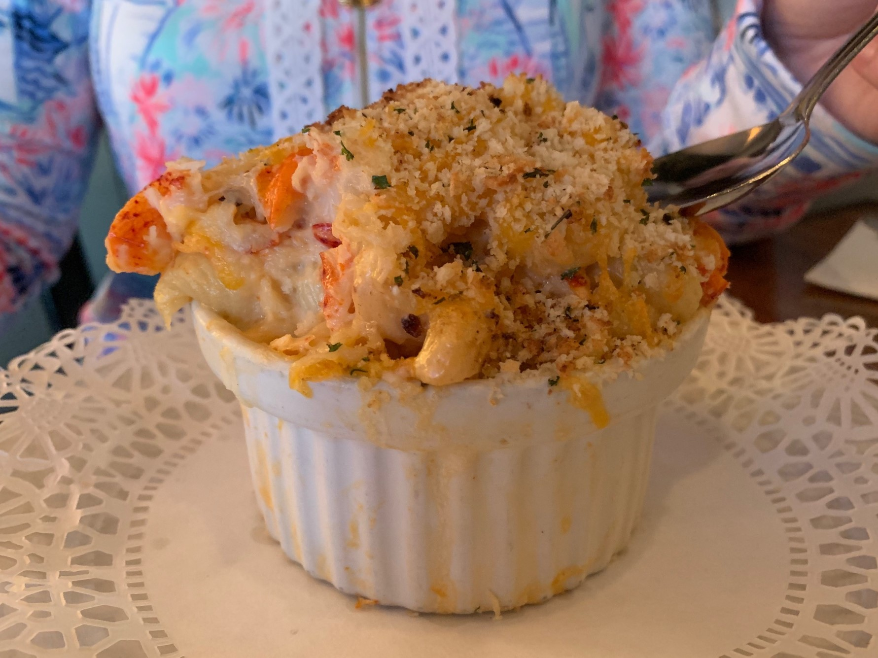 The delicious lobster mac n cheese at DWC.