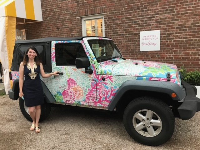 The Lilly Jeep at Lilly Pulitzer store.