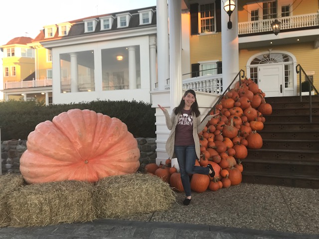 Ocean House decked out with pumpkins during fall.