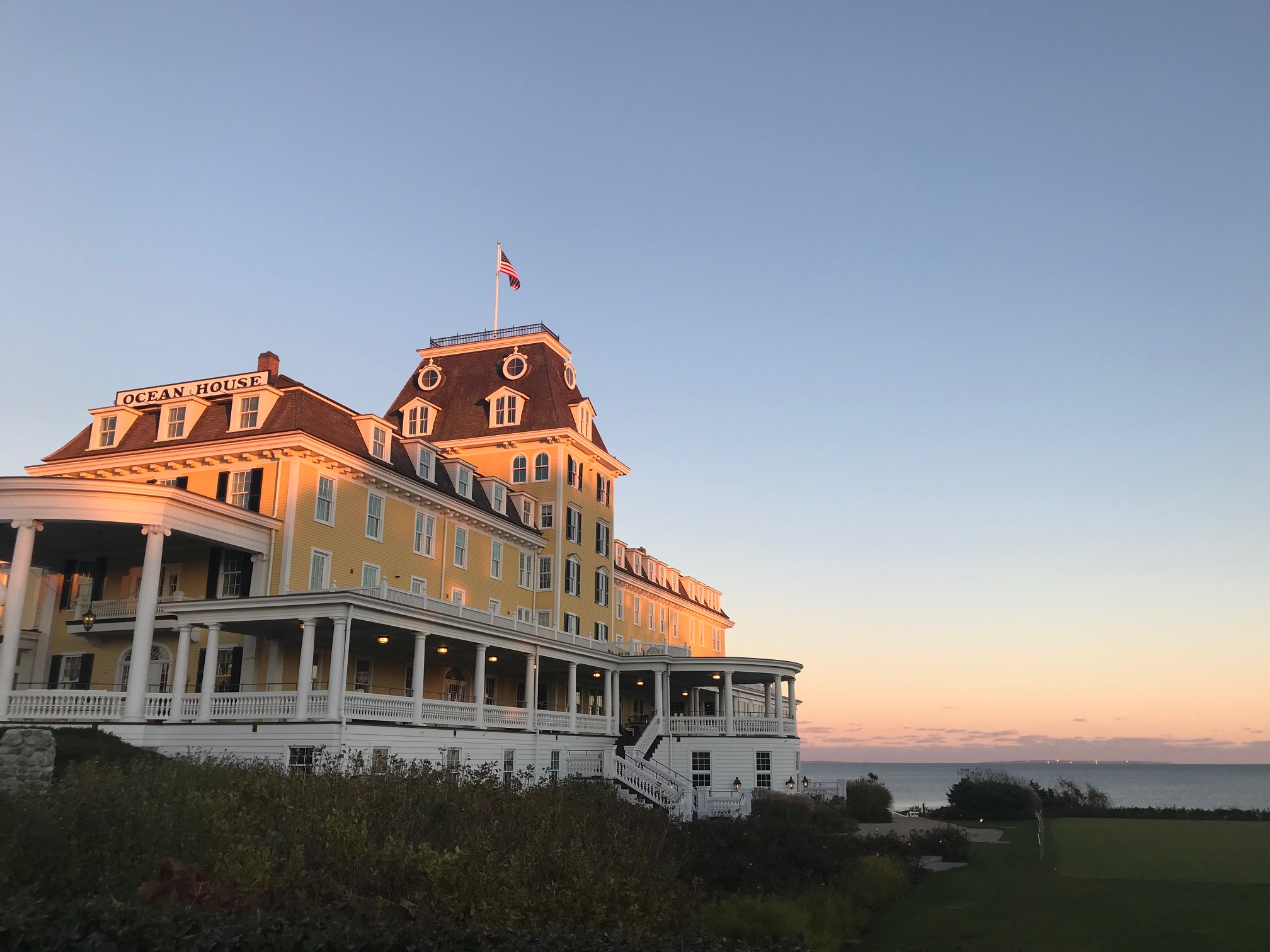 Ocean House looking stunning at sunset.