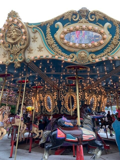 Merry-go-round in the Midway.