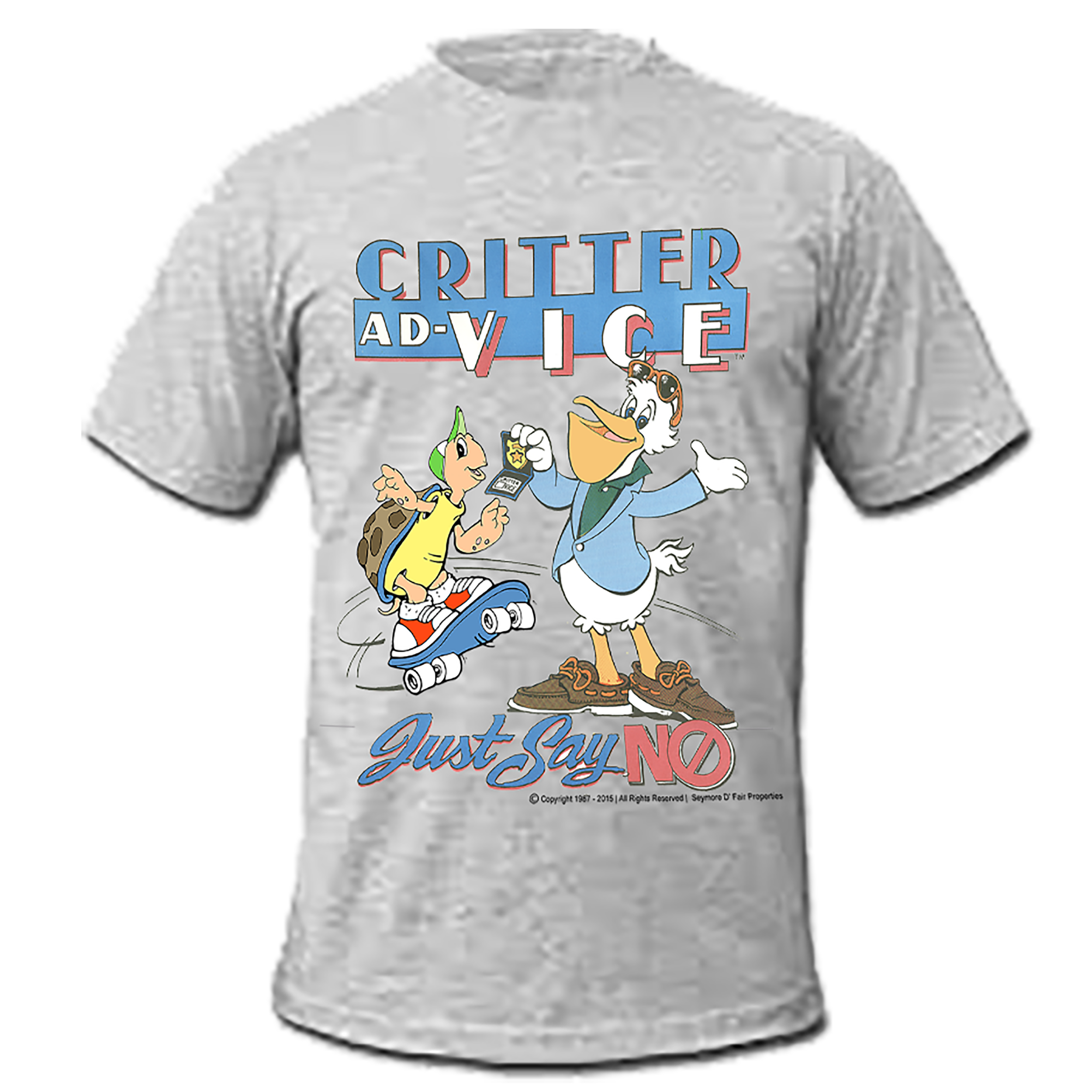 Seymore D Fair | Critter Ad-Vice Say NO to Drugs T-shirt