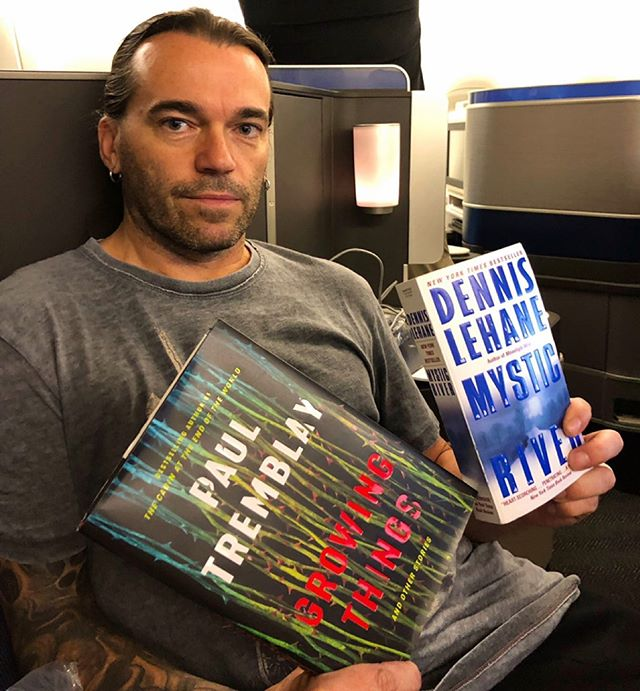 Heading home after an unforgettable week in Japan!  Here's what I've been reading on the planes to and from my Japanese tour: GROWING THINGS by @PaulgTremblay  MYSTIC RIVER by Dennis Lehane  #PaulTremblay #DennisLeHane 📚 📖