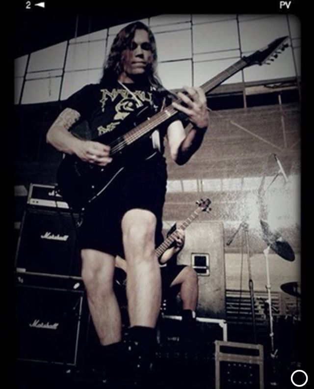 #Throwback #Flashback  22 years + 2 days ago—wayyyy back to September 17, 1997.  Here I am during soundcheck at the Gimnasio Nataniel in Santiago, Chile when we supported the mighty Sodom. . . . #BrokenHope #DeathMetal #Chicago #Santiago #Chile #SouthAmerica #Gimnasio #Sodom @brokenxhope @sodomofficial #1997
