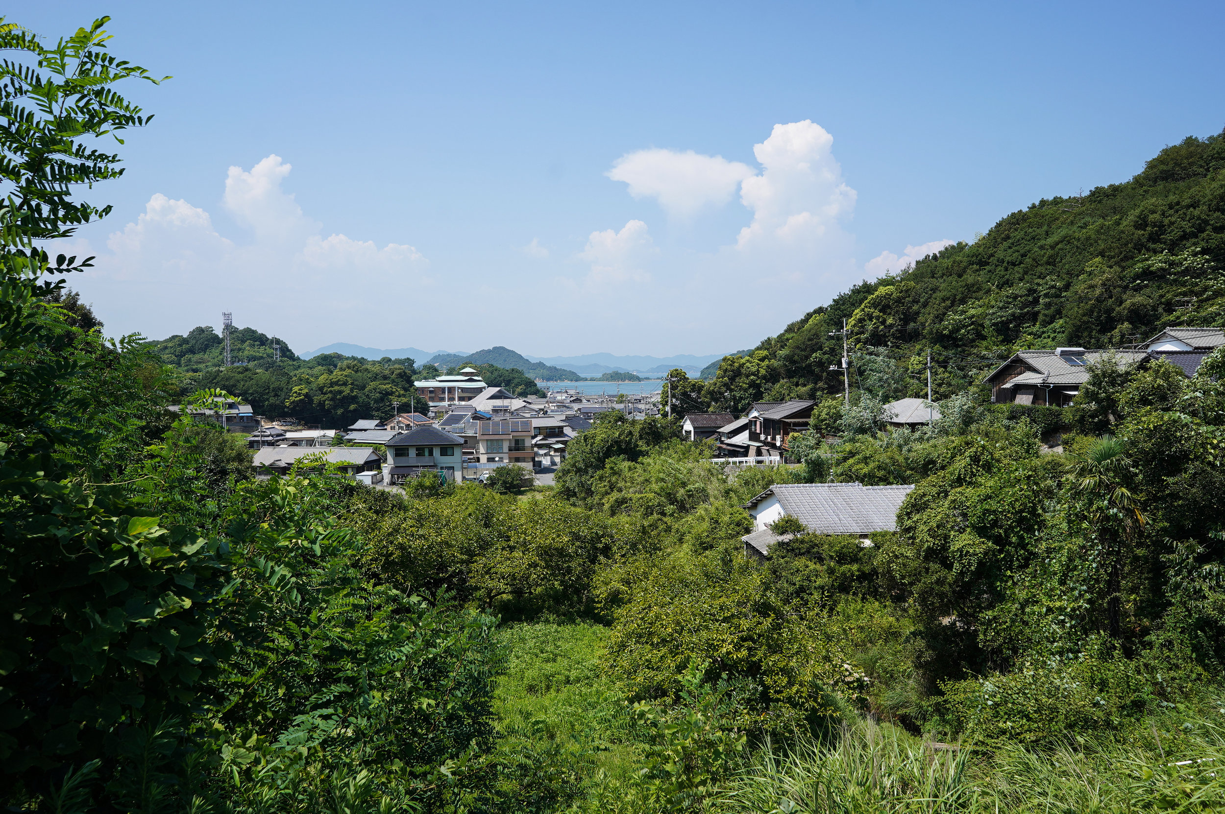 The village of Honmura on Naoshima.