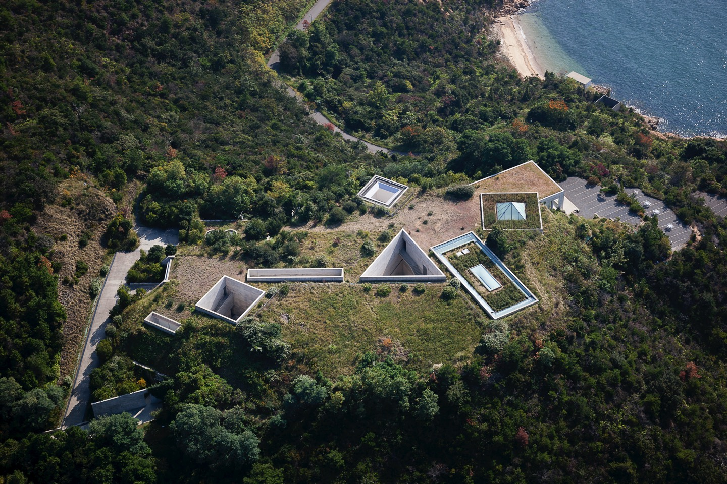 Chichu Art Museum. Photo courtesy of Benesse Art Site Naoshima.