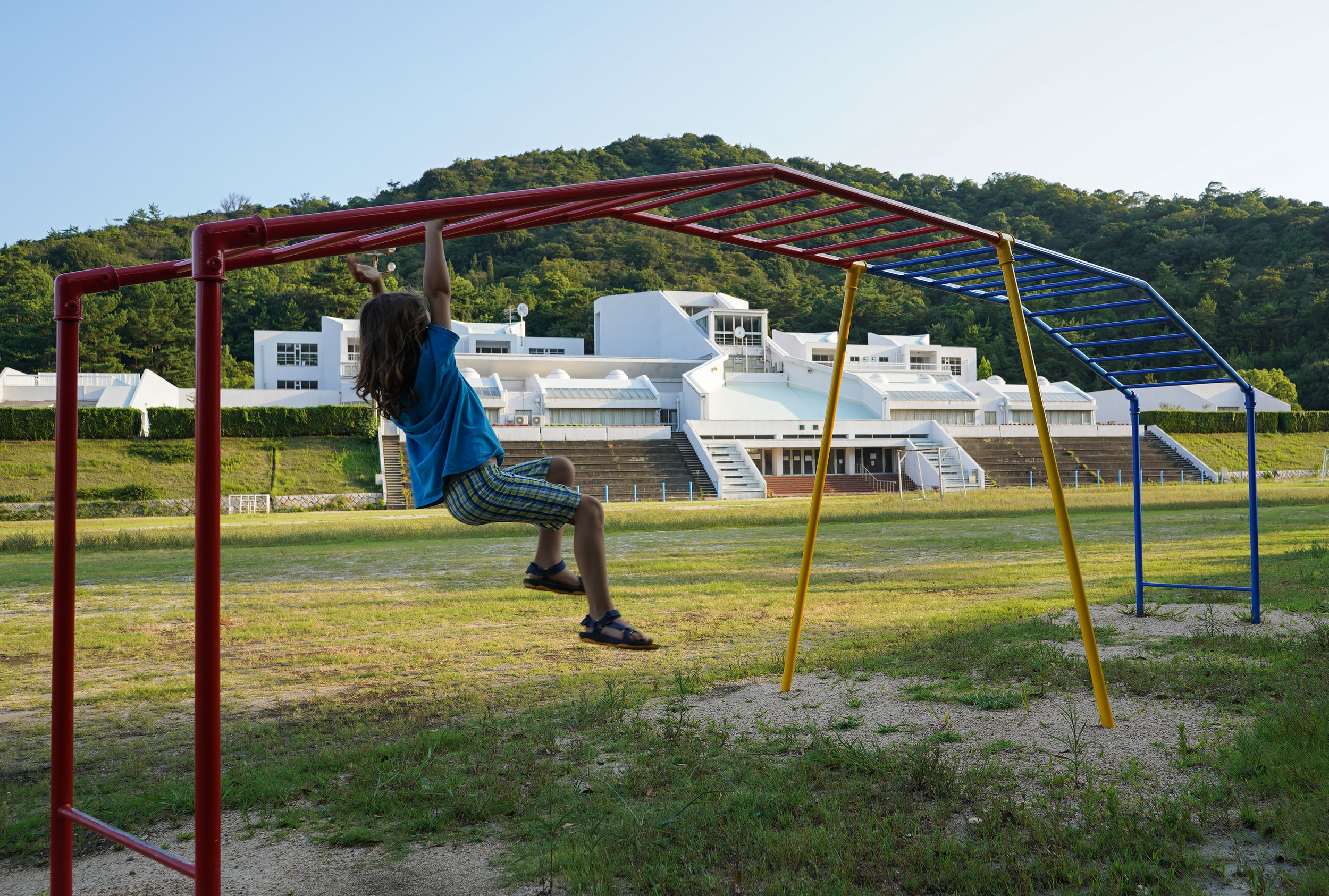 The Kazuhiro Ishii-designed elementary school on Naoshima.