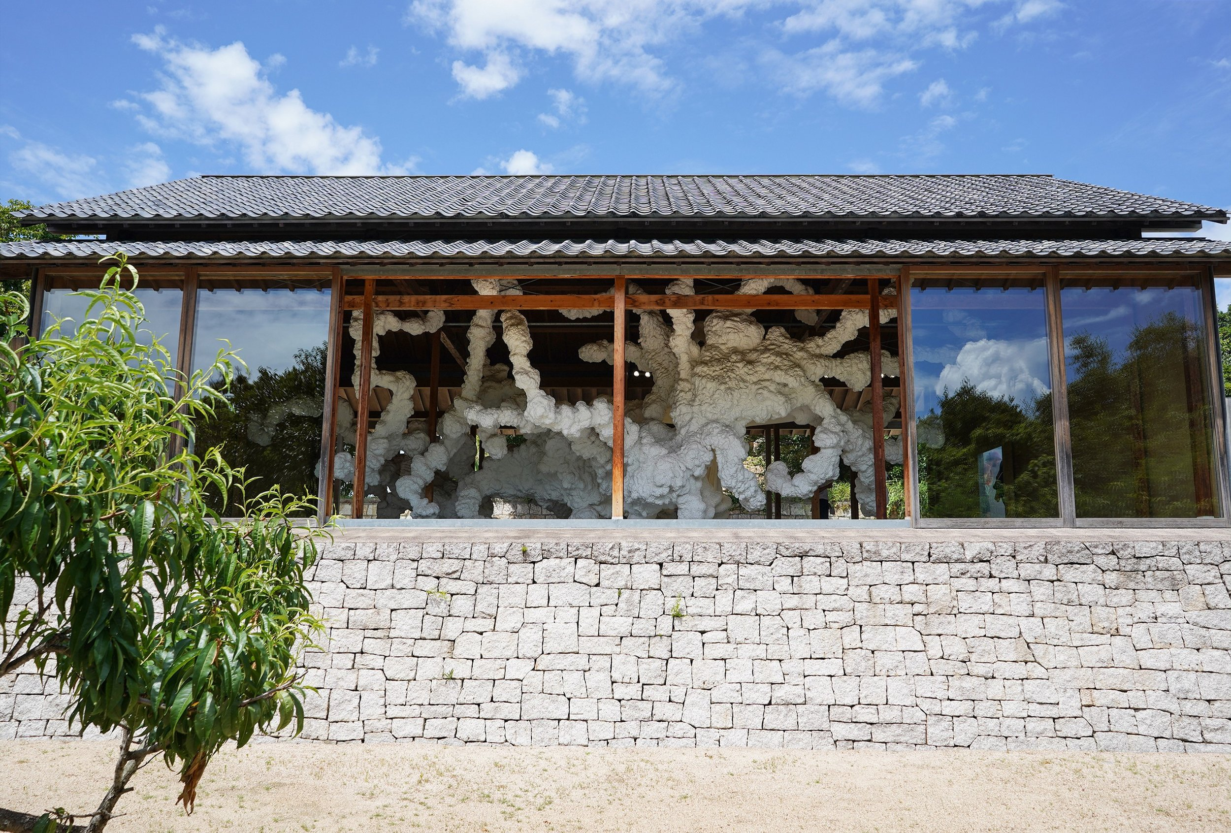 """Kohei Nawa's installation in """"F Art House"""" on Inujima. Kazuyo Sejima was the architect for all of Inujima's """"Art House Project"""" buildings. Photo by the author."""